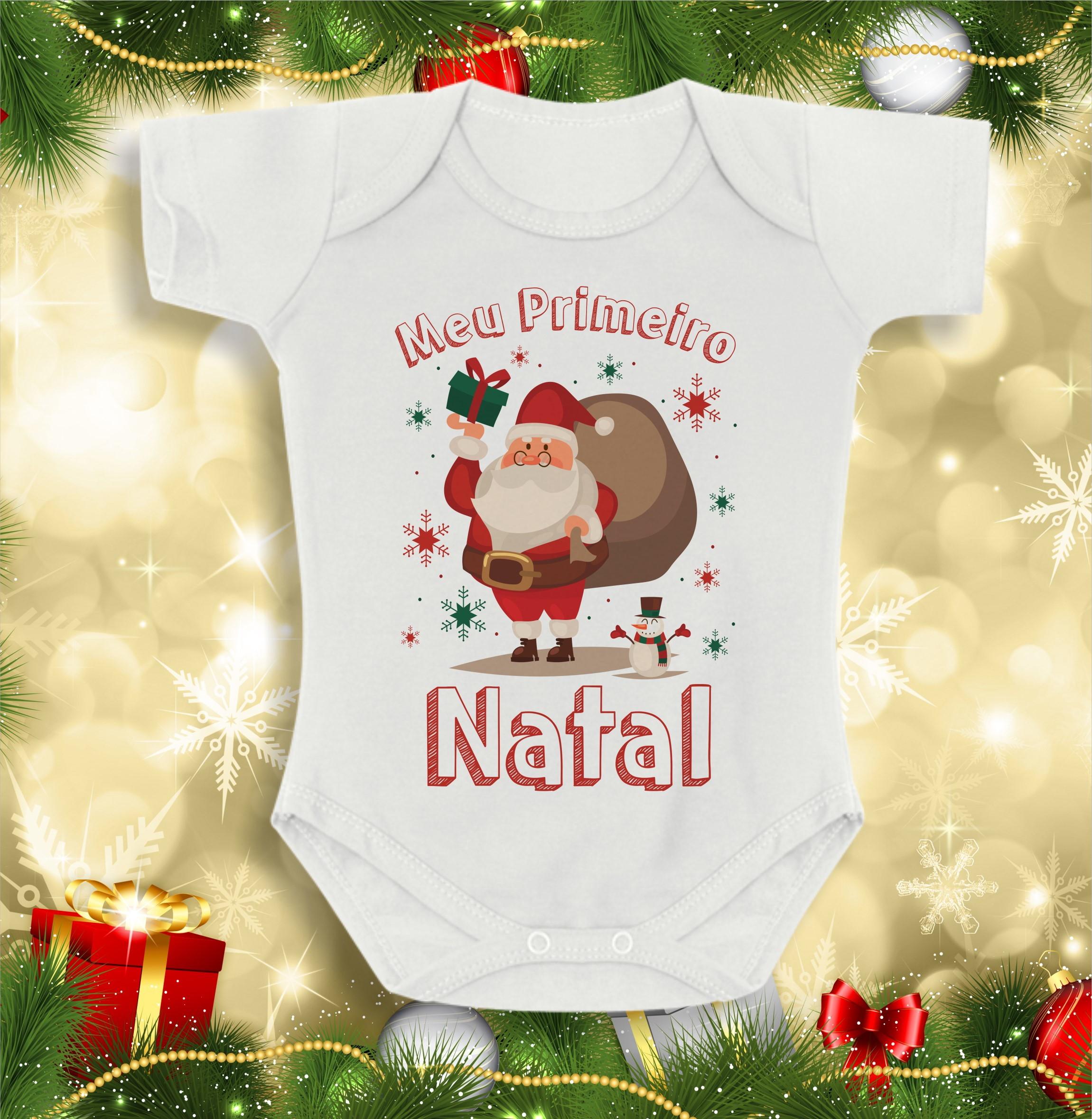 8c4a449935 Body Infantil Meu Primeiro Natal Bebê Papai Noel tip top no Elo7 ...