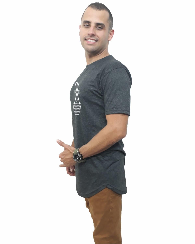 c775ad1f6 Camiseta Longline Oversized Camisa Marca Top Original no Elo7