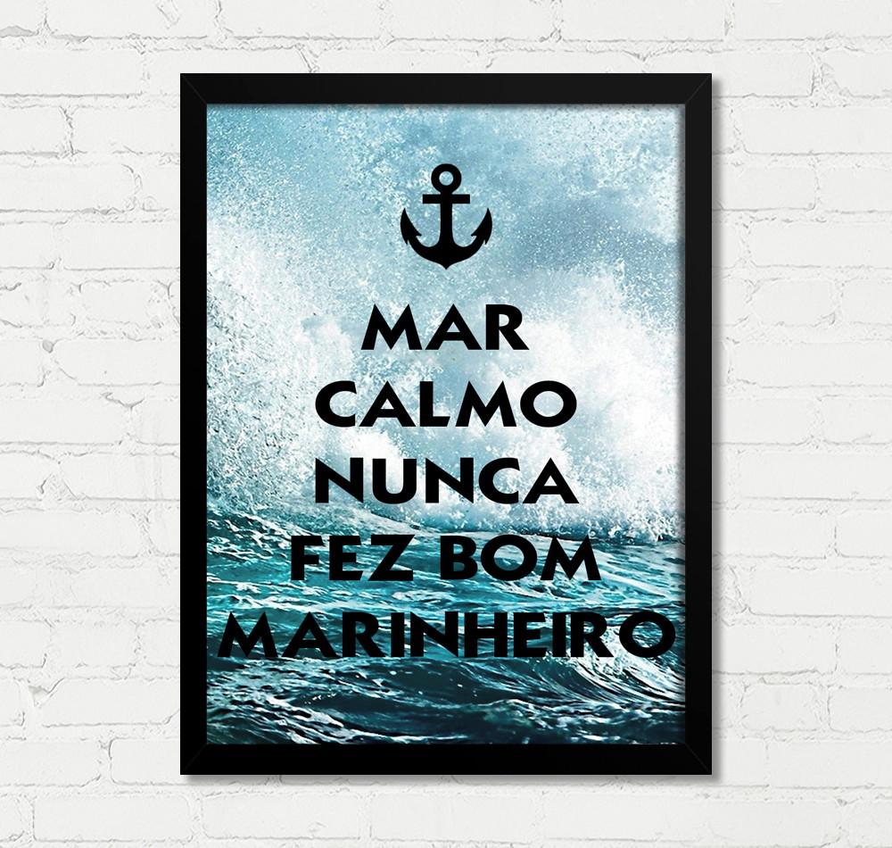 Quadro Mar Calmo Nunca Fez Bom Marinheiro M260a No Elo7 Sky