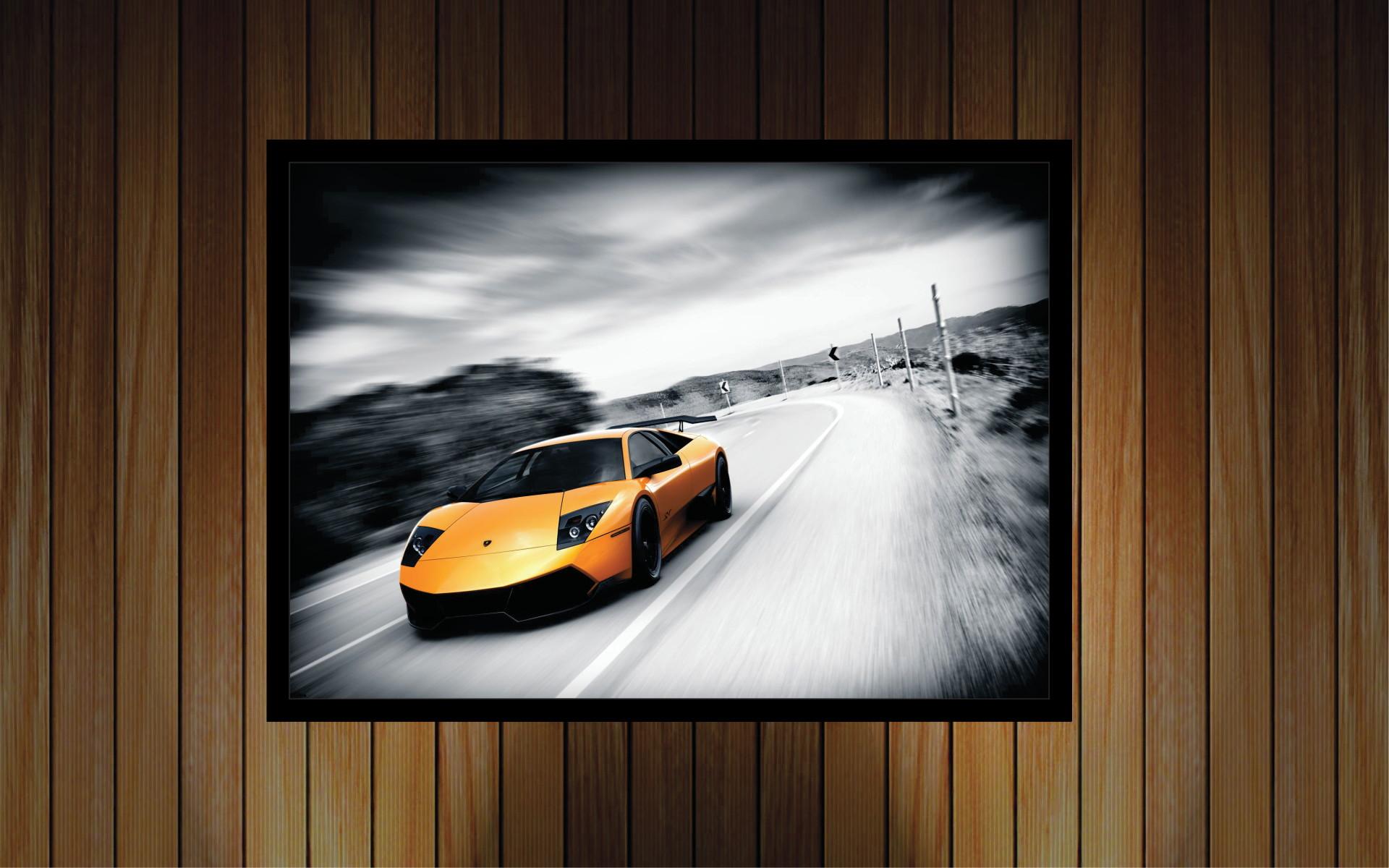00518ba50 Quadro Decorativo Carro Esportivo com Moldura Rm411
