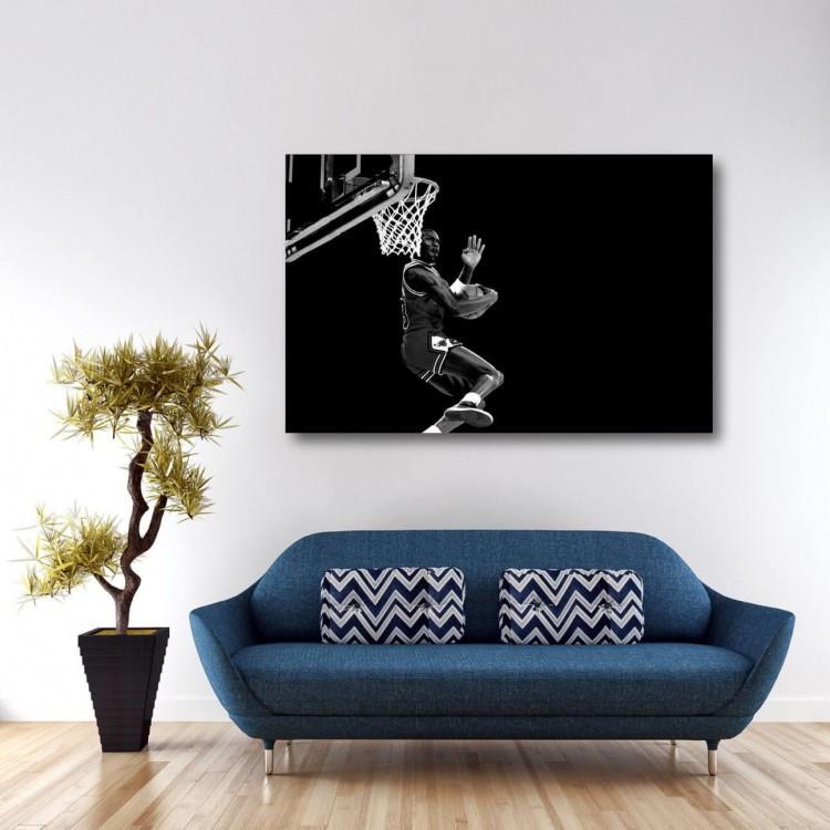 97ed16c4611 Quadro Michael Jordan Basquete decorativo - Tela em Tecido no Elo7 ...