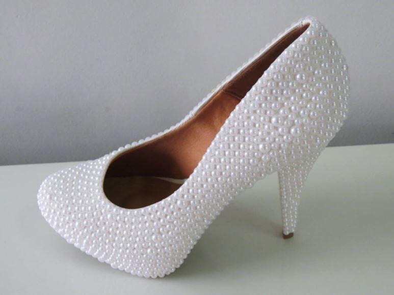 d995100257 Sapato Customizado Feminino Meia Pata Embutida no Elo7