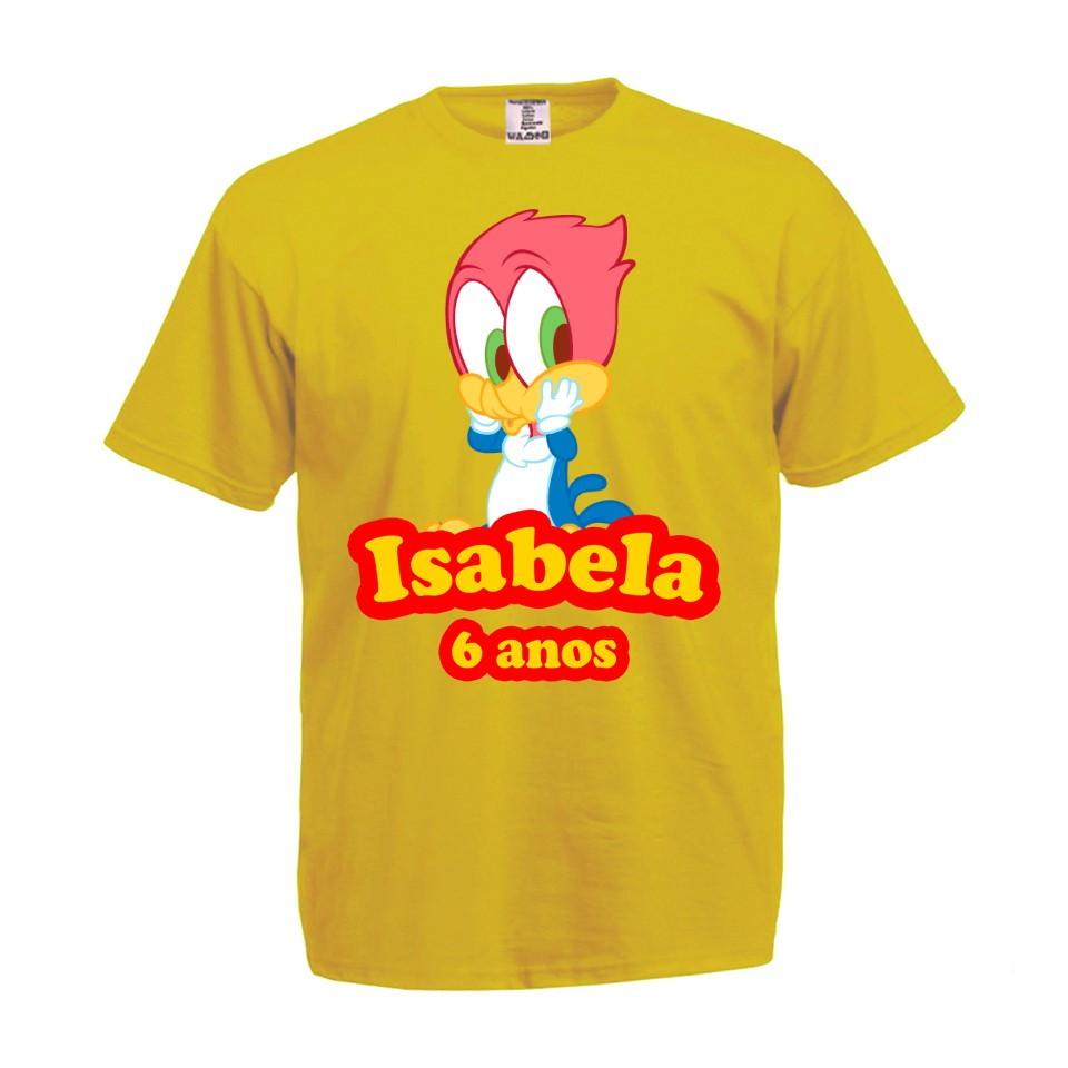 Camiseta com Nome Verde Pica Pau  687715b0c5da1