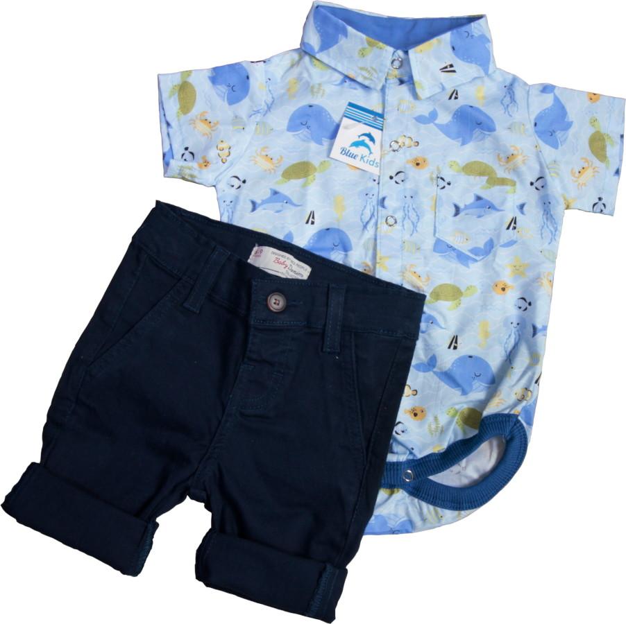Conjunto Social Menino Azul Marinho  327769b3217