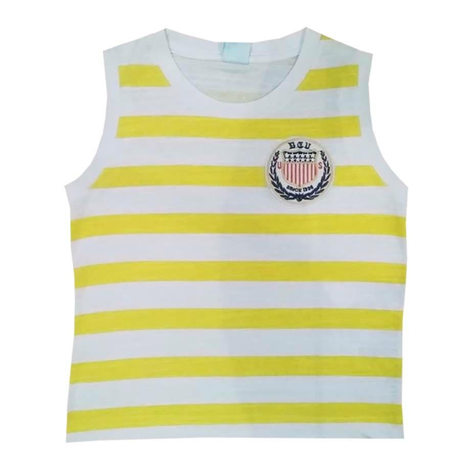 3847166426 Camiseta Regata Amarela Uniforme Infantil