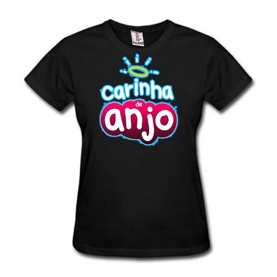 2485db7ab Camiseta Baby Look Asa de Anjo