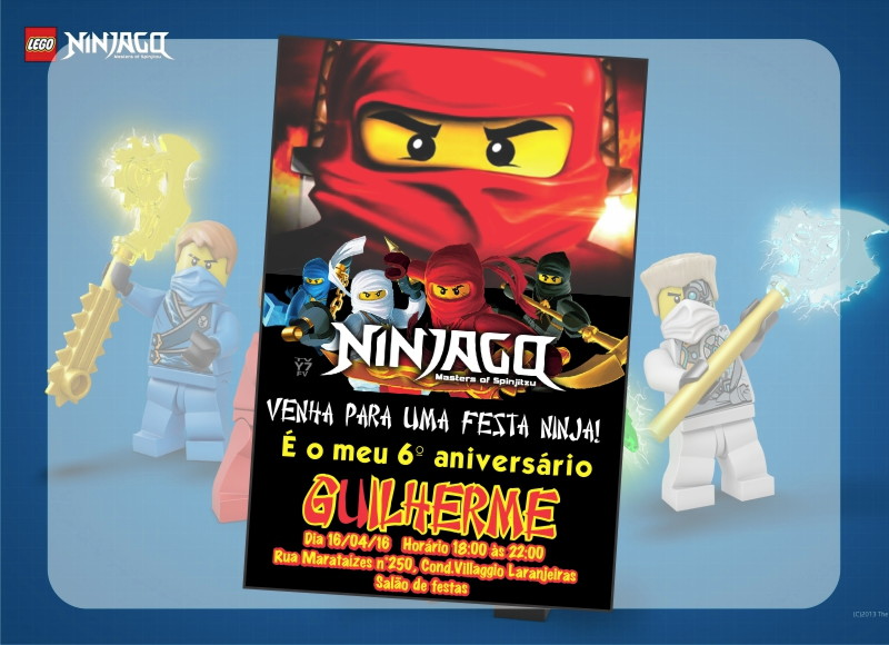 Convite De Aniversário Ninjago No Elo7 Kako Design Personalizados