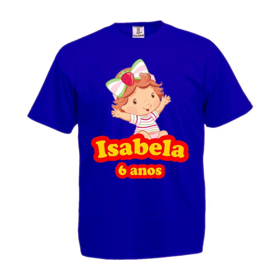 80ae77dc48 Camiseta 100% Algodão Moranguinho Baby no Elo7