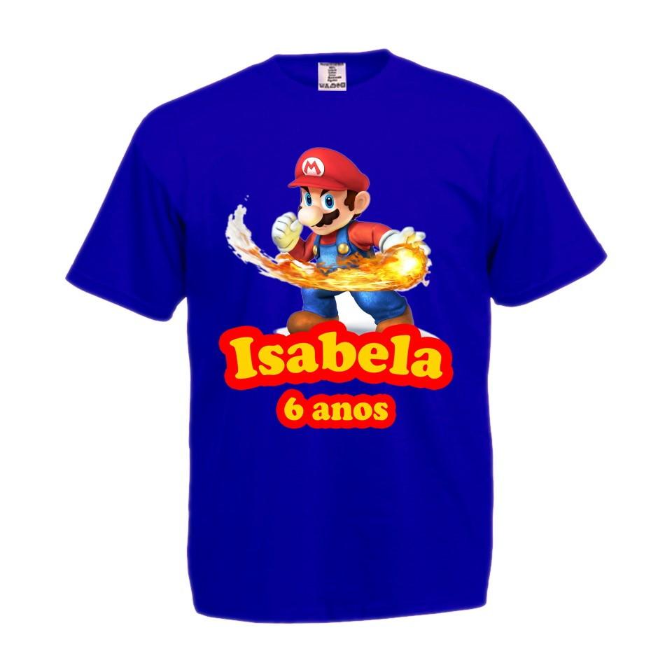 aee99fc322 Baby Look Feminina Super Mario Bros 100 Algodao