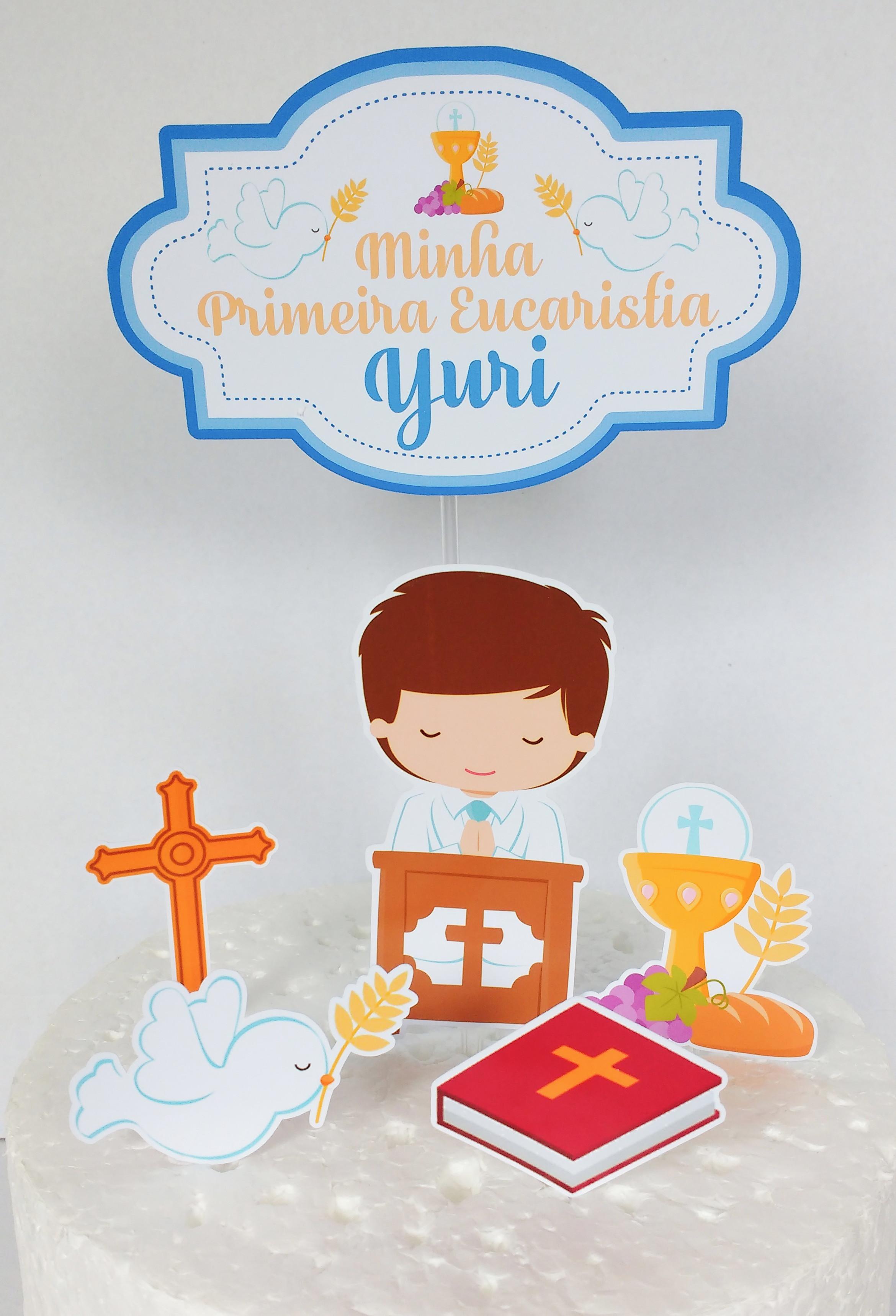 Topo De Bolo Primeira Eucaristia Elo7