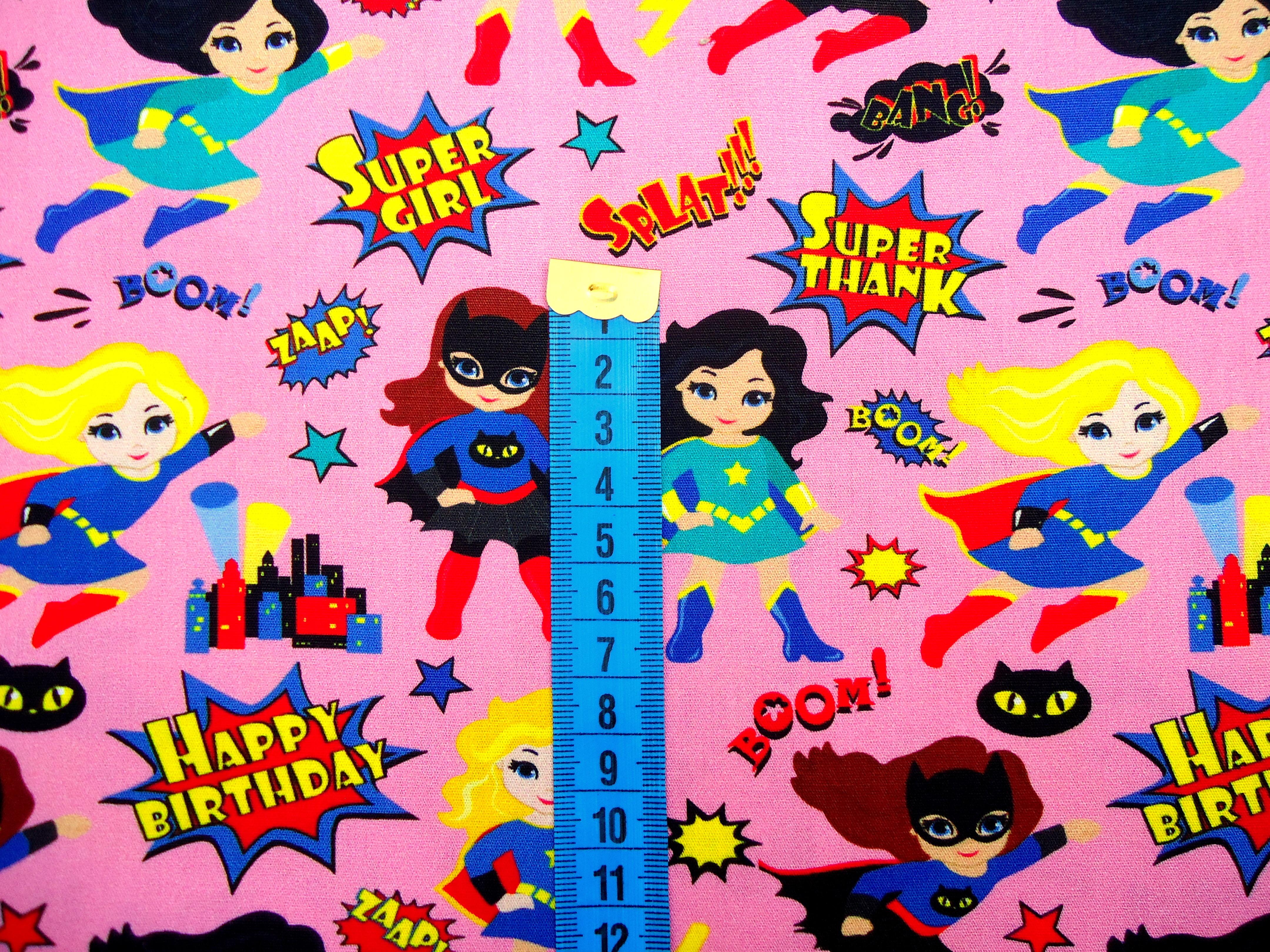 4a9c9fa04 Tecido Digital Super Heroínas no Elo7 | Ateliê Shirley Valton (DAB864)