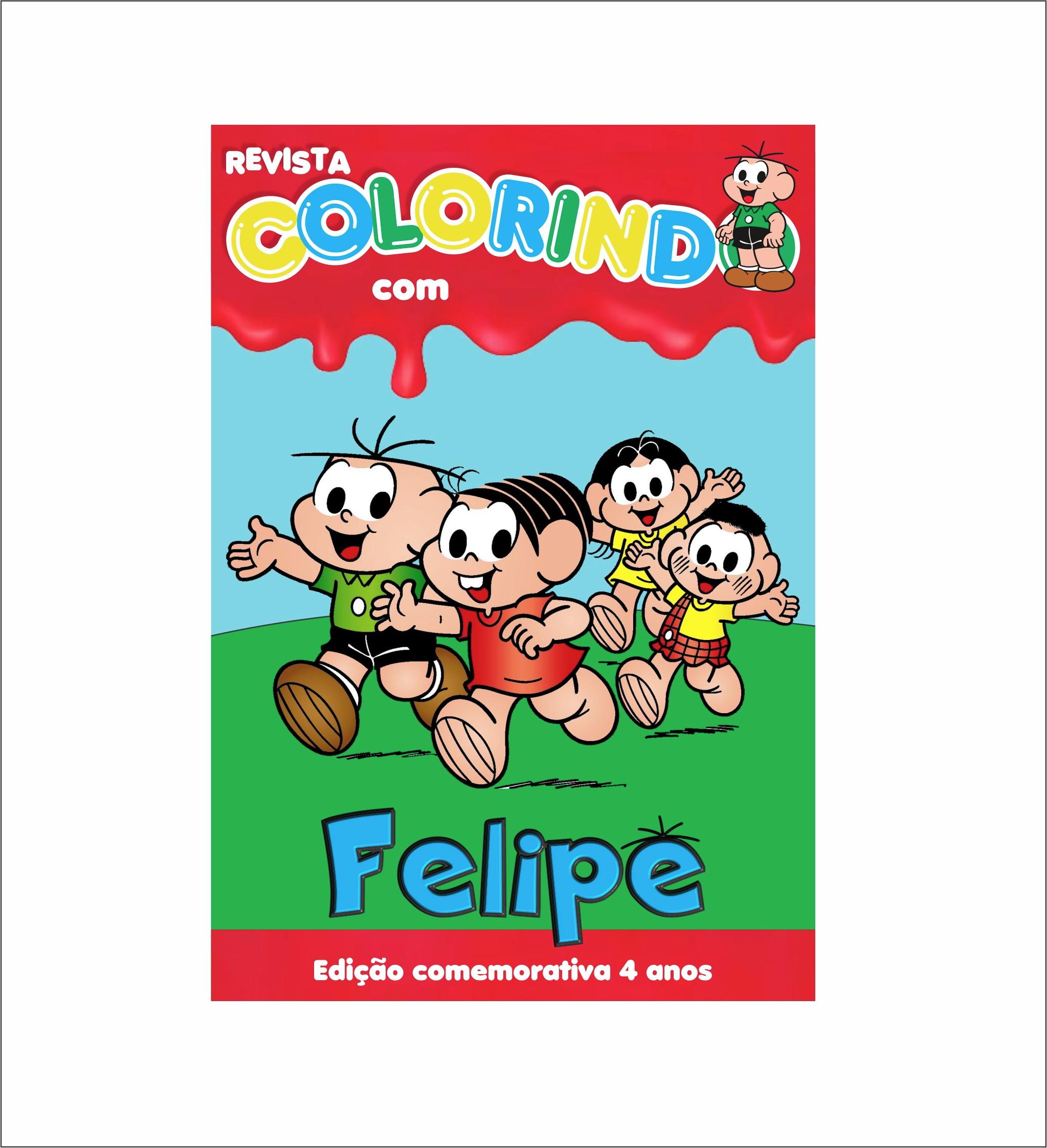 Livrinho Para Colorir Turma Da Monica No Elo7 Laco Azul E Rosa