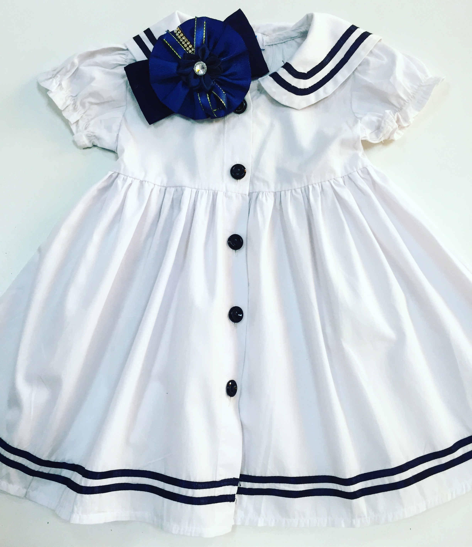 8c4f542a0fd Vestido Marinheiro Tamanho 1 Ano