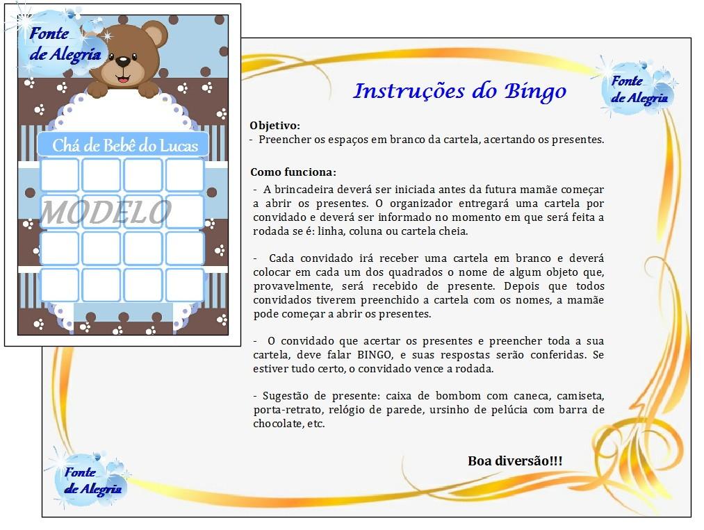 c3d140228ff Kit 01  Com 05 Brincadeiras para Chá de Bebê - Menino no Elo7 ...