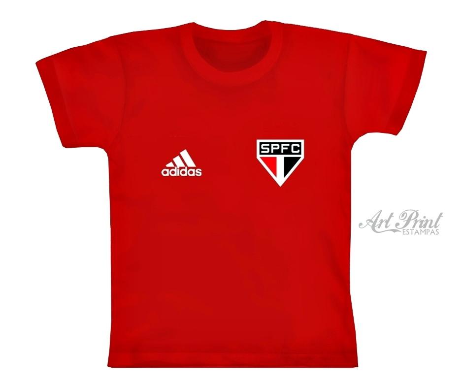 Camiseta Infantil Times de Futebol Sao Paulo Personalizado  5b6cfd0d340a0