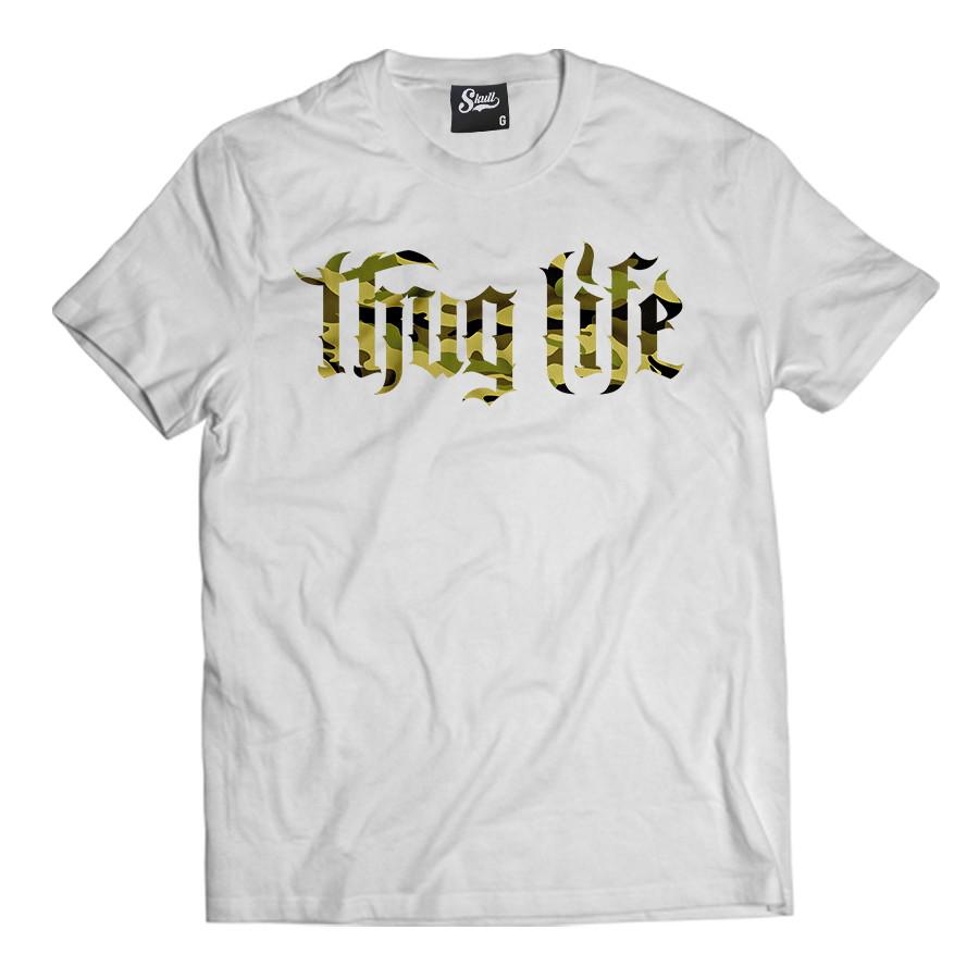 Camiseta Rap Thug Life Masculina Raglan  a7d82a7346c