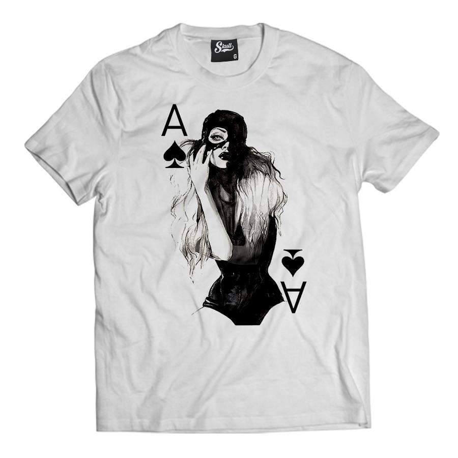 d548e79d4 Camiseta Girl Naipe Camisa Masculina Swag Cartas Hip Hop