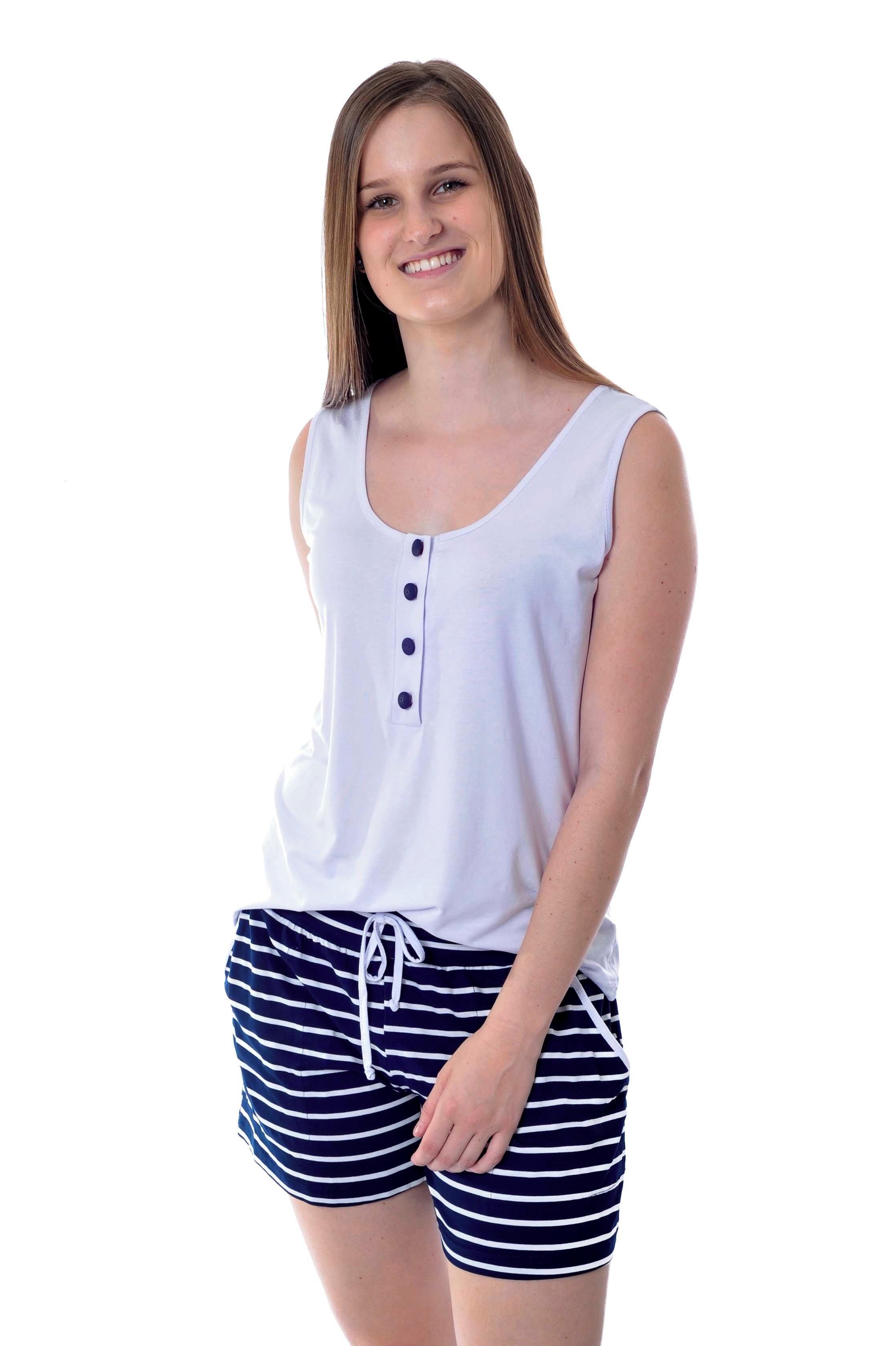 b2dbaa429 Pijama de Amamentação Feminino Cavado Curto com Shorts no Elo7 ...