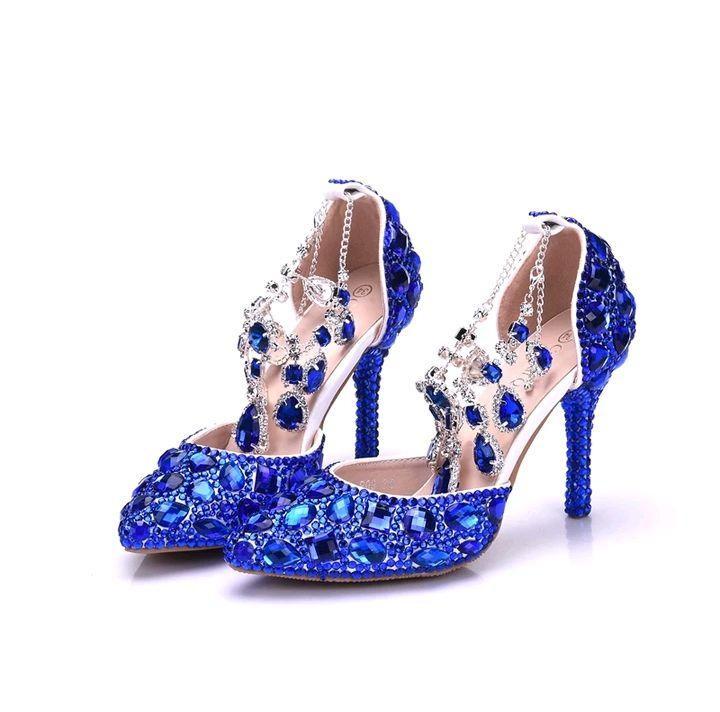 0b0edfa05 Sapato de Debutante e Noiva azul Royal personalizado no Elo7 | Cantinho  Príncipe e Princesa (DB92E4)