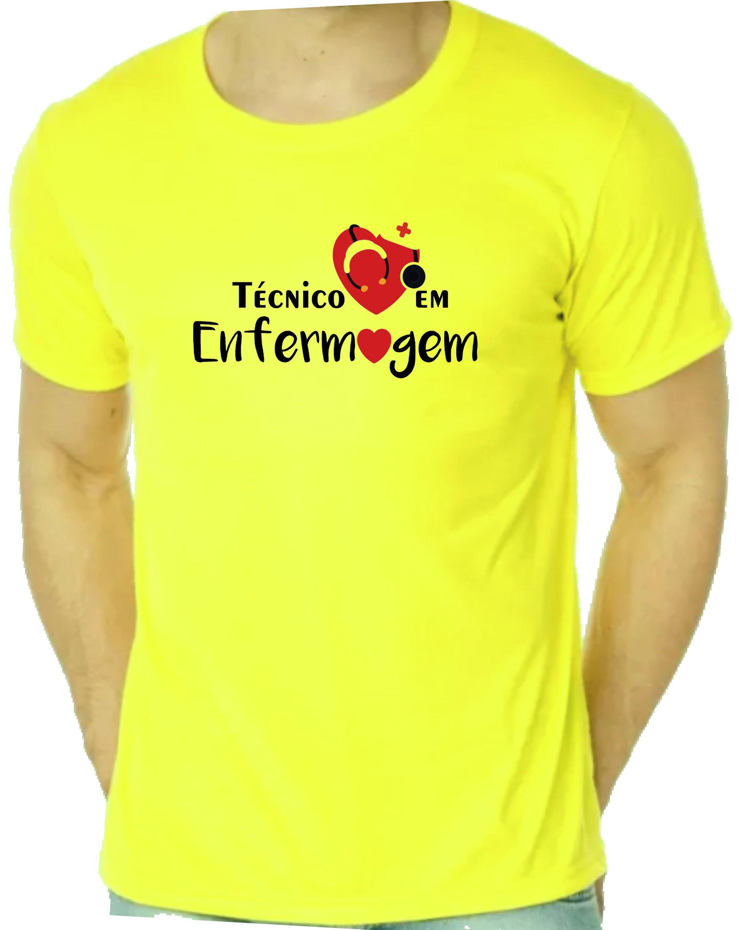 Camiseta Amarela Amo Biomedicina  7e781608be3d3