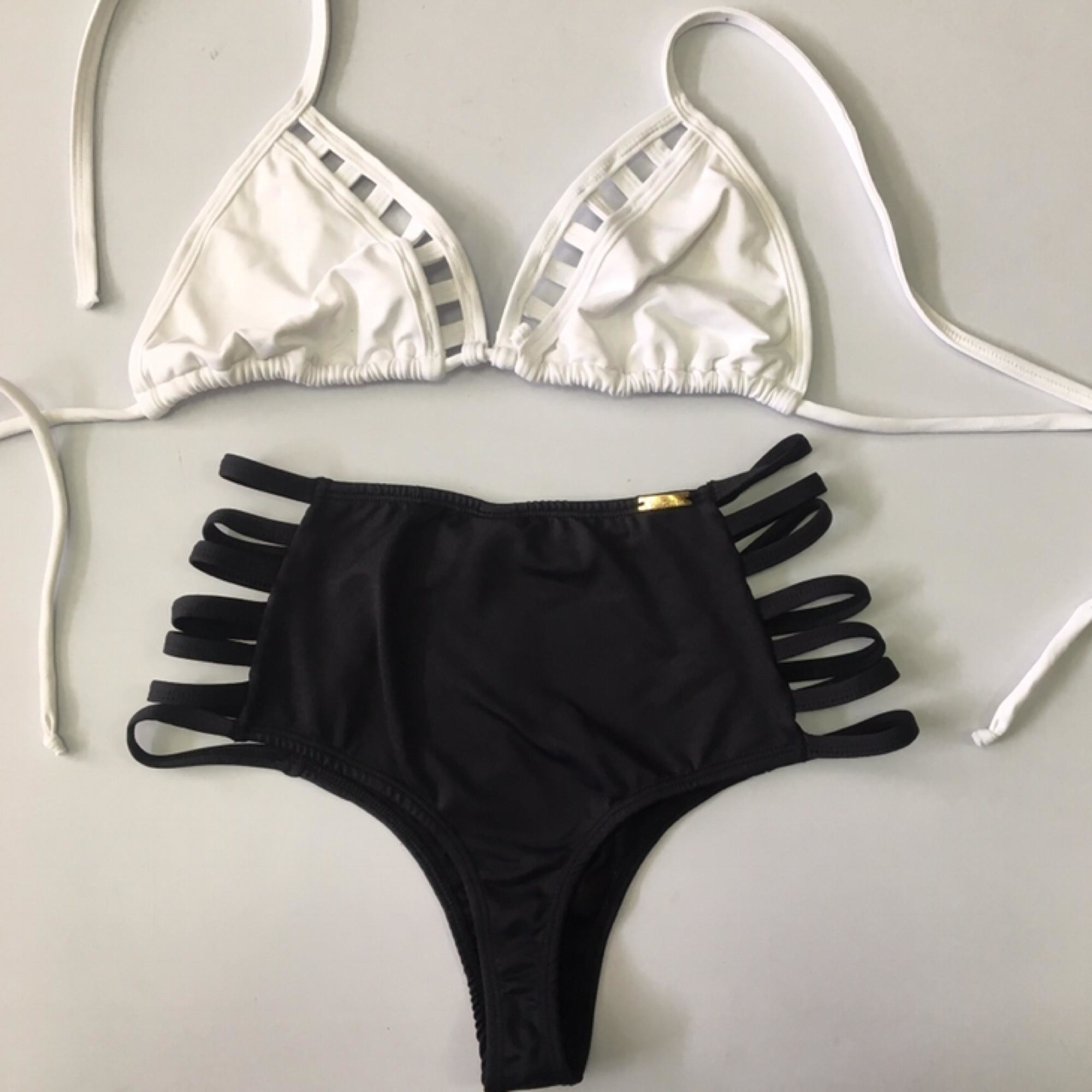 cd862ba89cf2 Biquini Hot pants Cintura Alta de tiras no Elo7   Melthan Lingerie e Moda  Praia Personalizados (DBB5CC)
