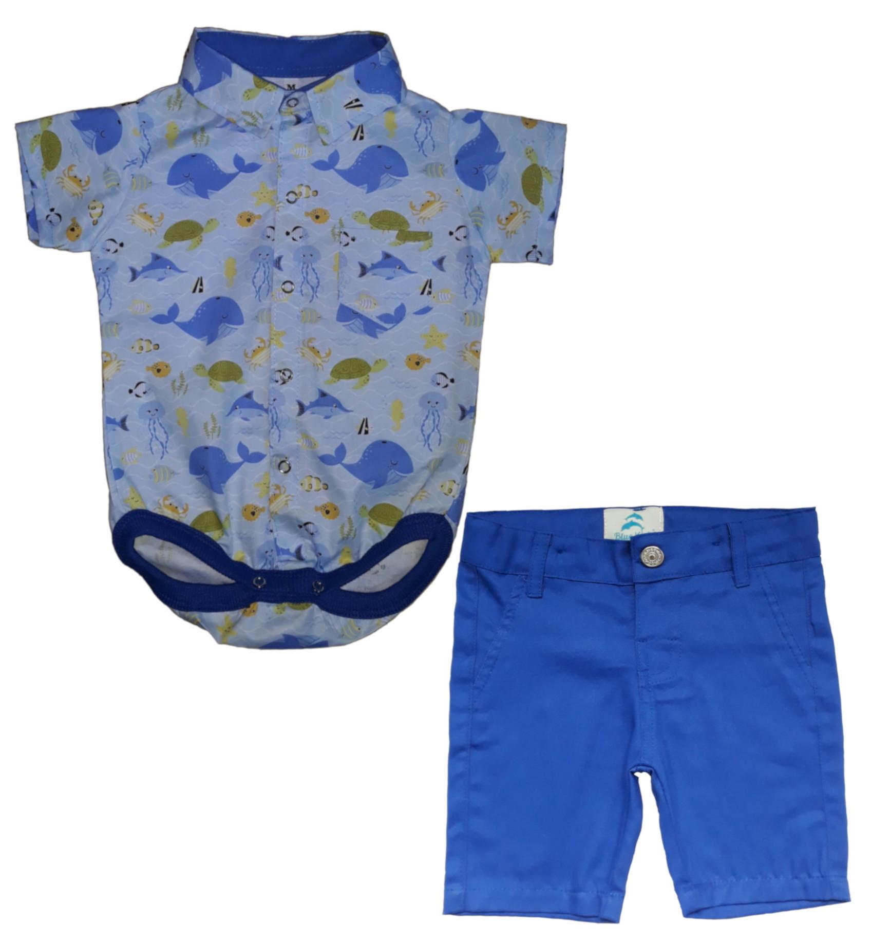 Conjunto Social Menino Azul Marinho  28f52ce7ff33f