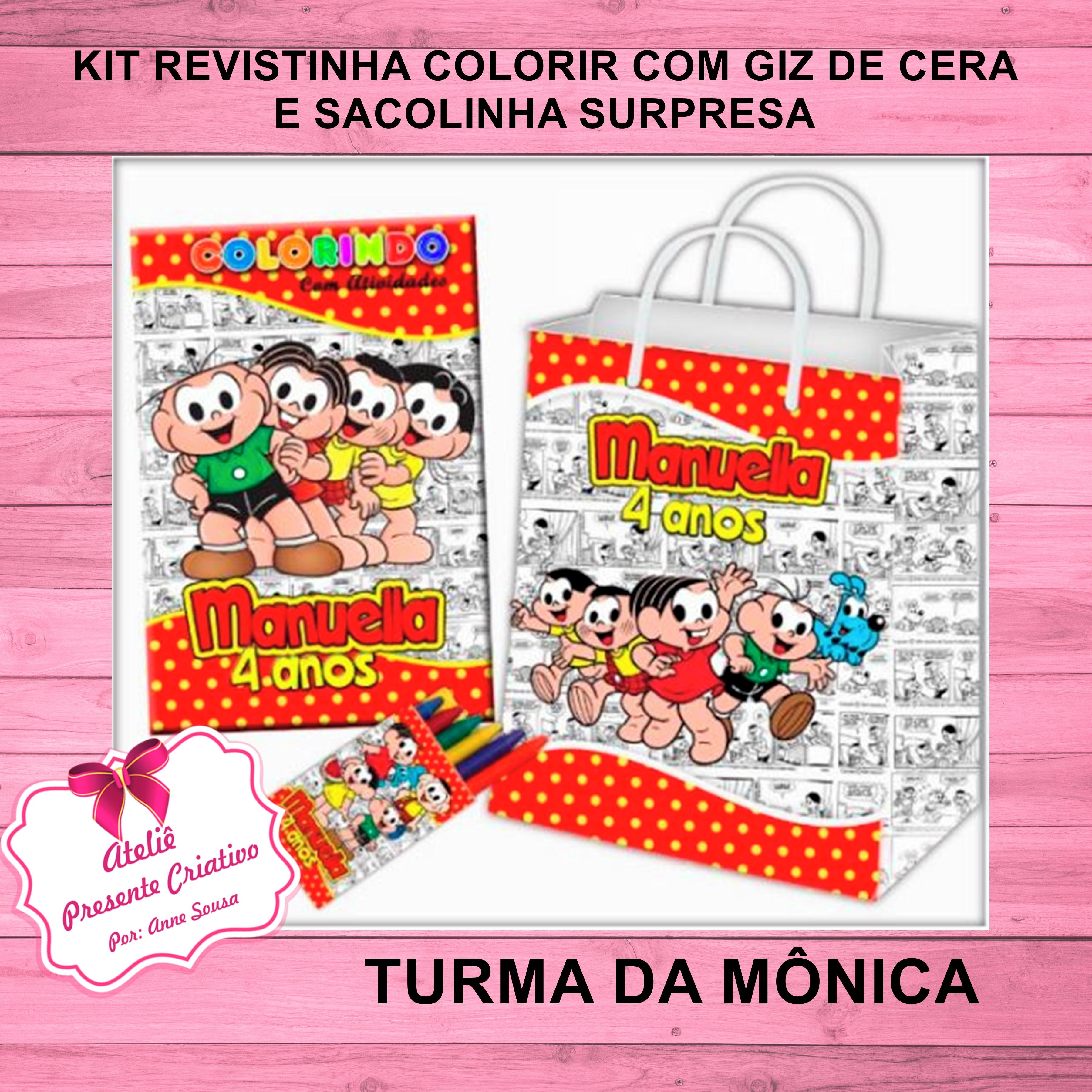 Kit Revista Colorir E Sacolinha Turma Da Monica No Elo7 Atelie