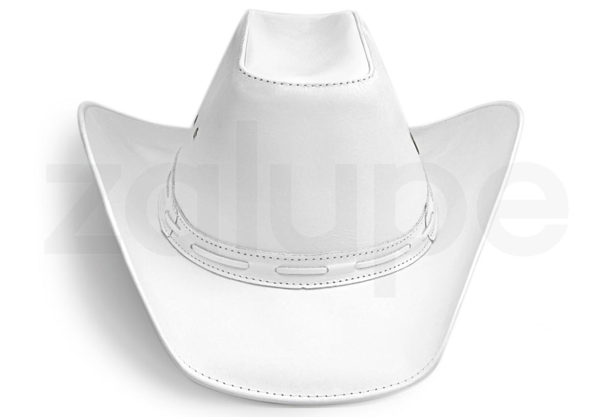 Chapeu de Couro Unissex Country Texano Rodeio Branco no Elo7 ... 8bdac8aa880