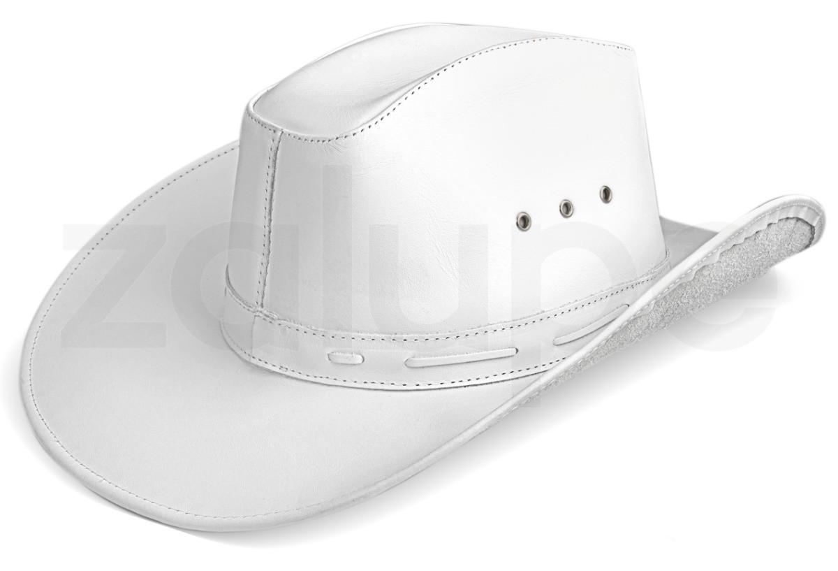 Chapeu de Couro Unissex Country Texano Rodeio Branco no Elo7 ... 42e3becff73
