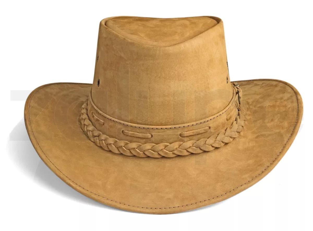 Chapeu Couro Country Australiano Texano Rodeio Bege Unissex no Elo7 ... 69396a21aa7