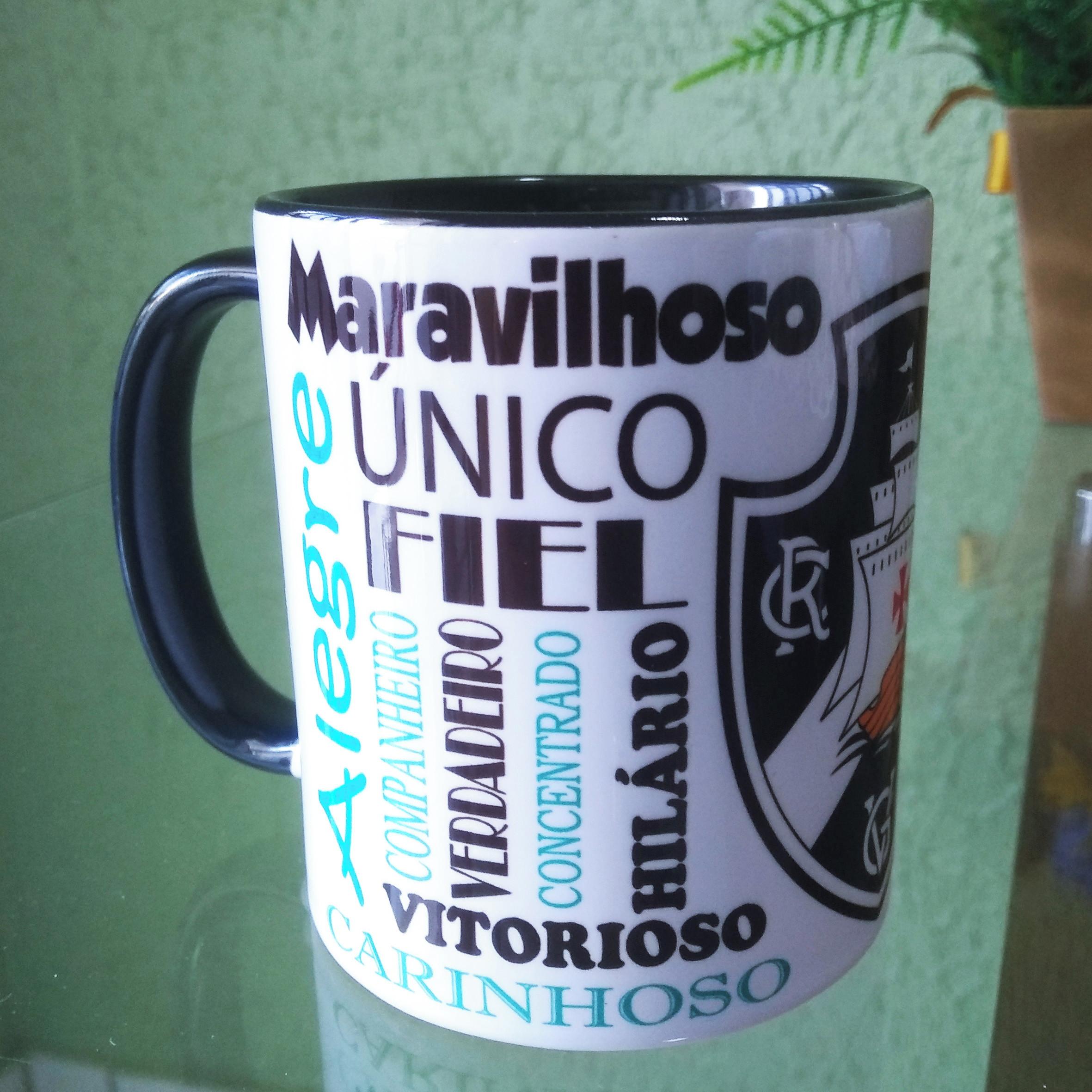 14a9c516da0cf Caneca Ceramica Vasco Personalizada com Hino