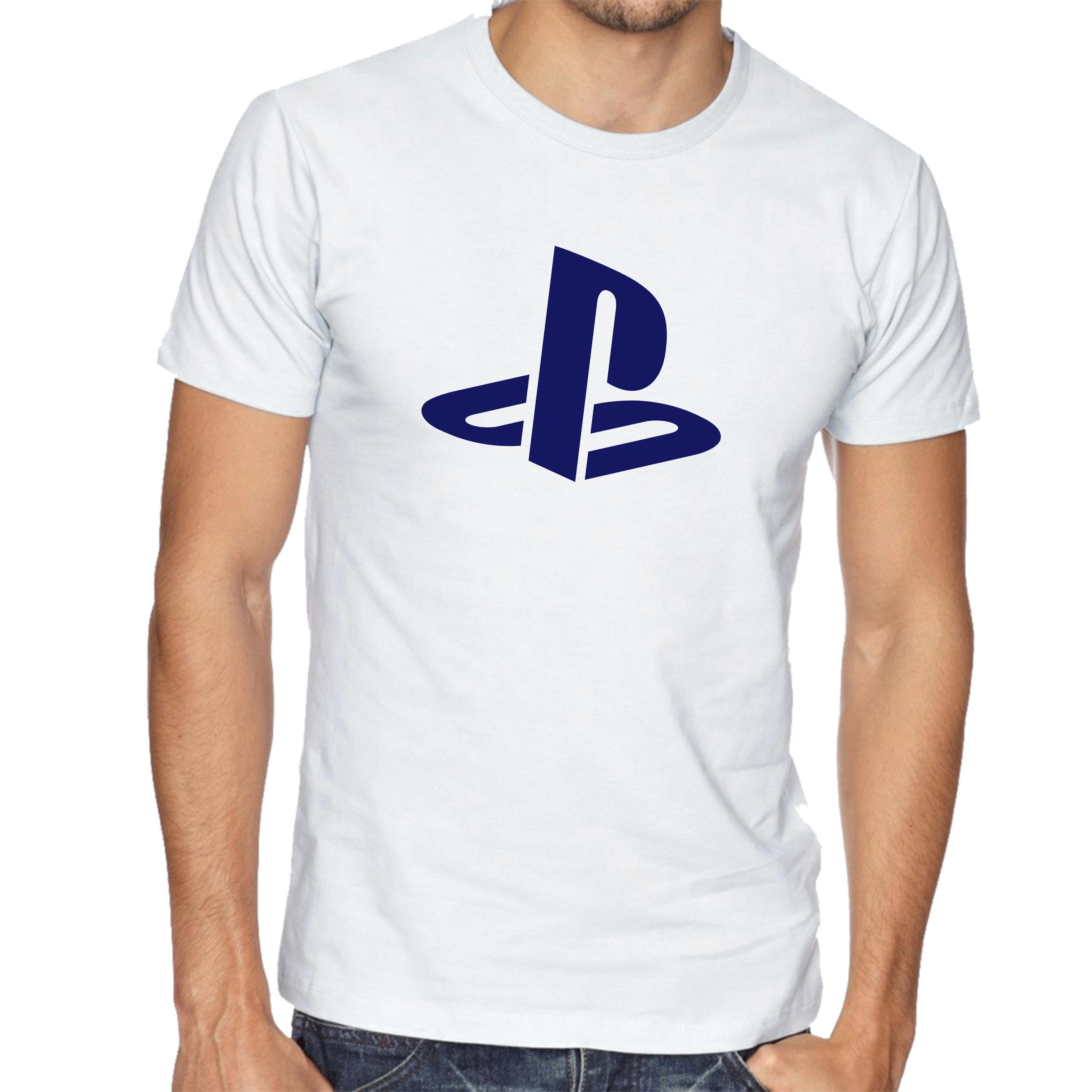 04fbf5588 Camiseta Logo Playstation 1