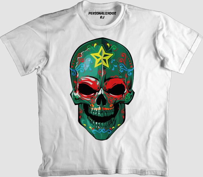 Camisa Caveira com Bandana  2214fe57500f1