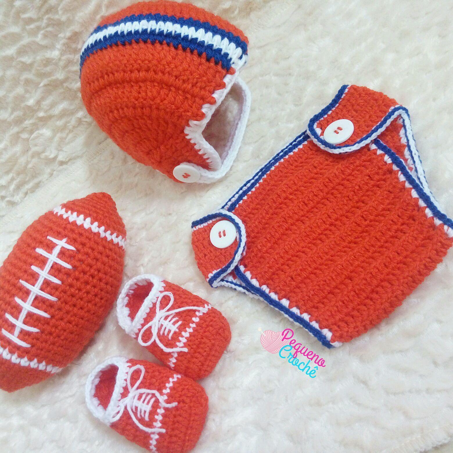 Conjunto Newborn Futebol Americano  d981ce2d0220a