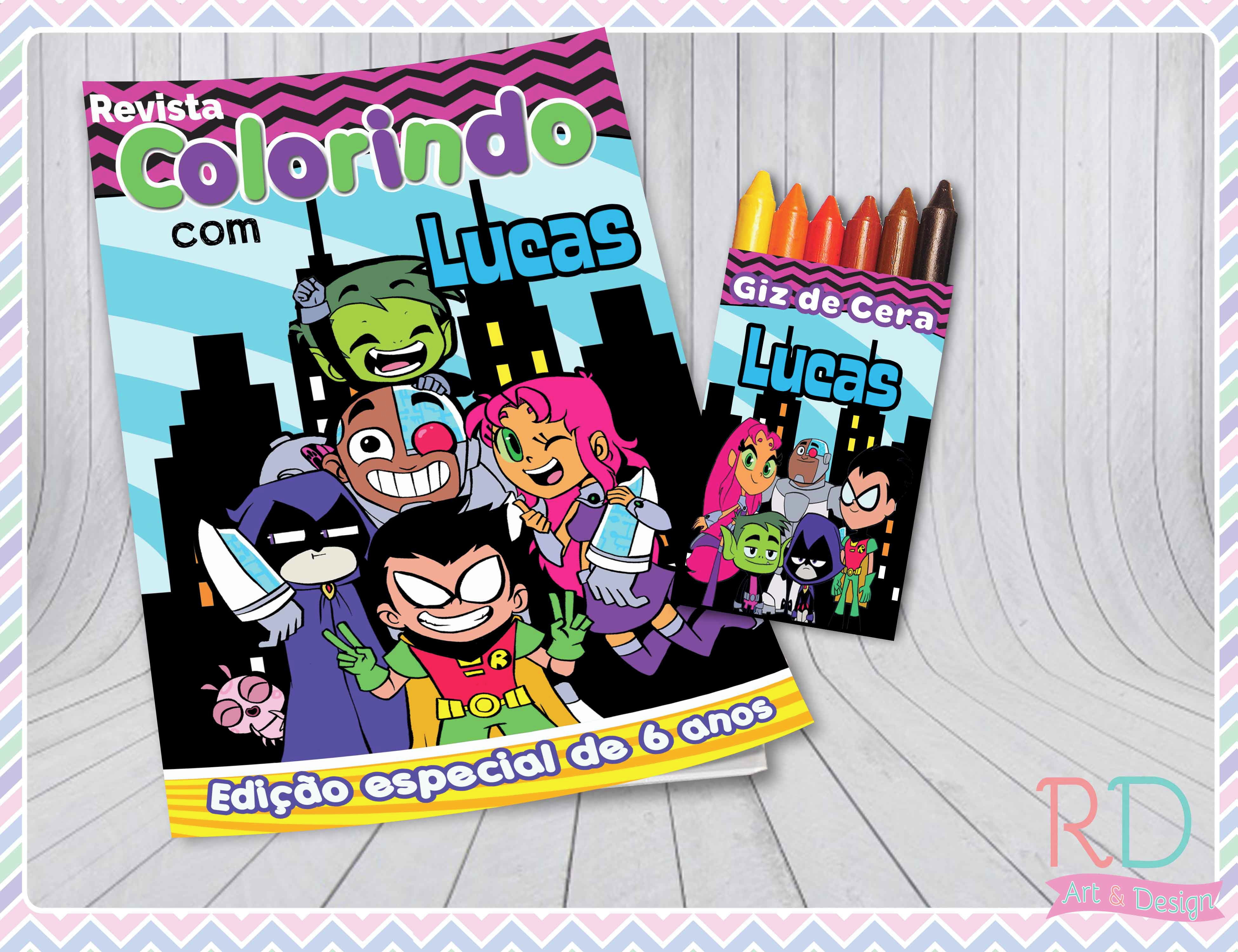 Kit De Colorir Jovens Titans Simples Elo7