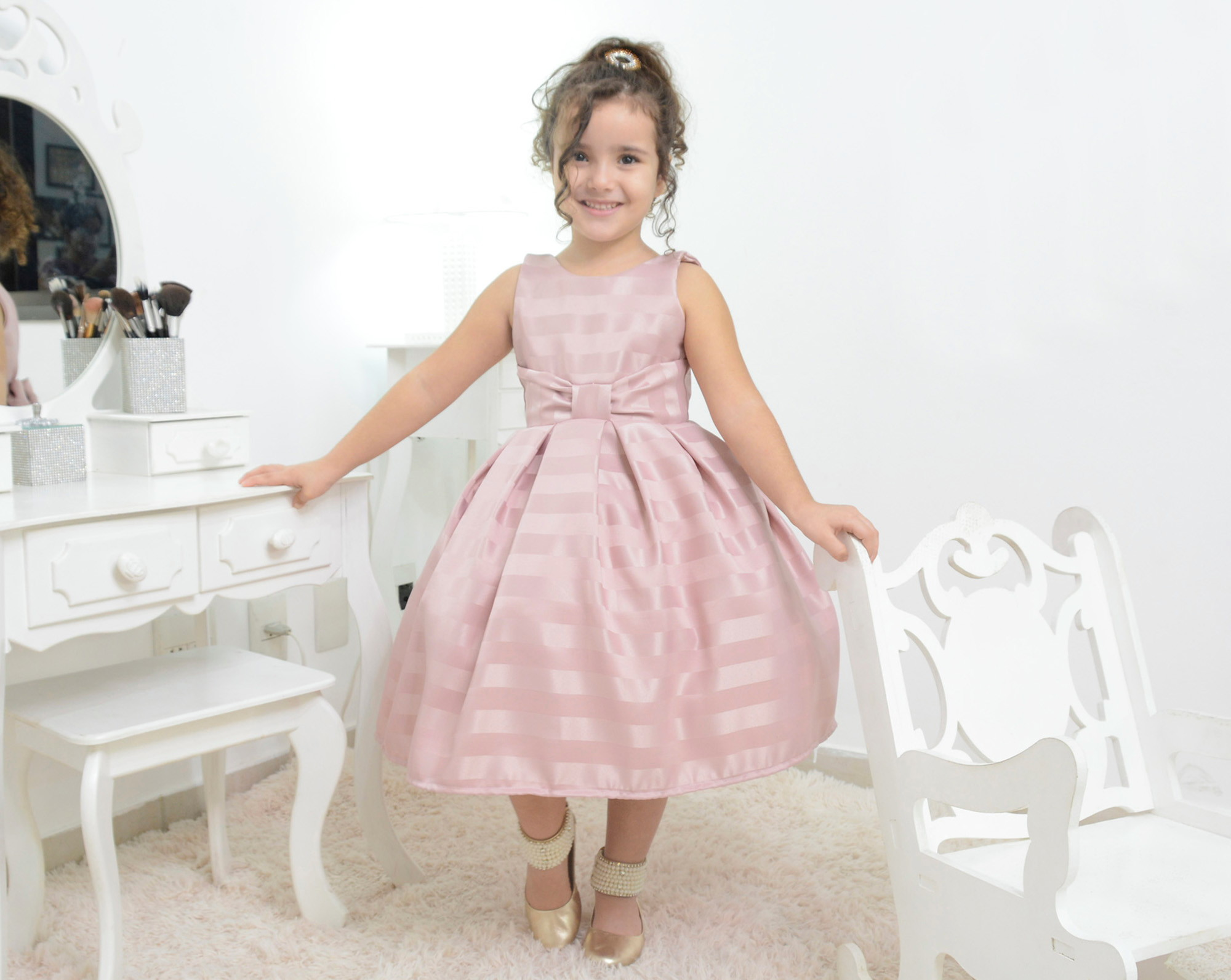 Vestido Infantil Na Cor Salmão Elo7