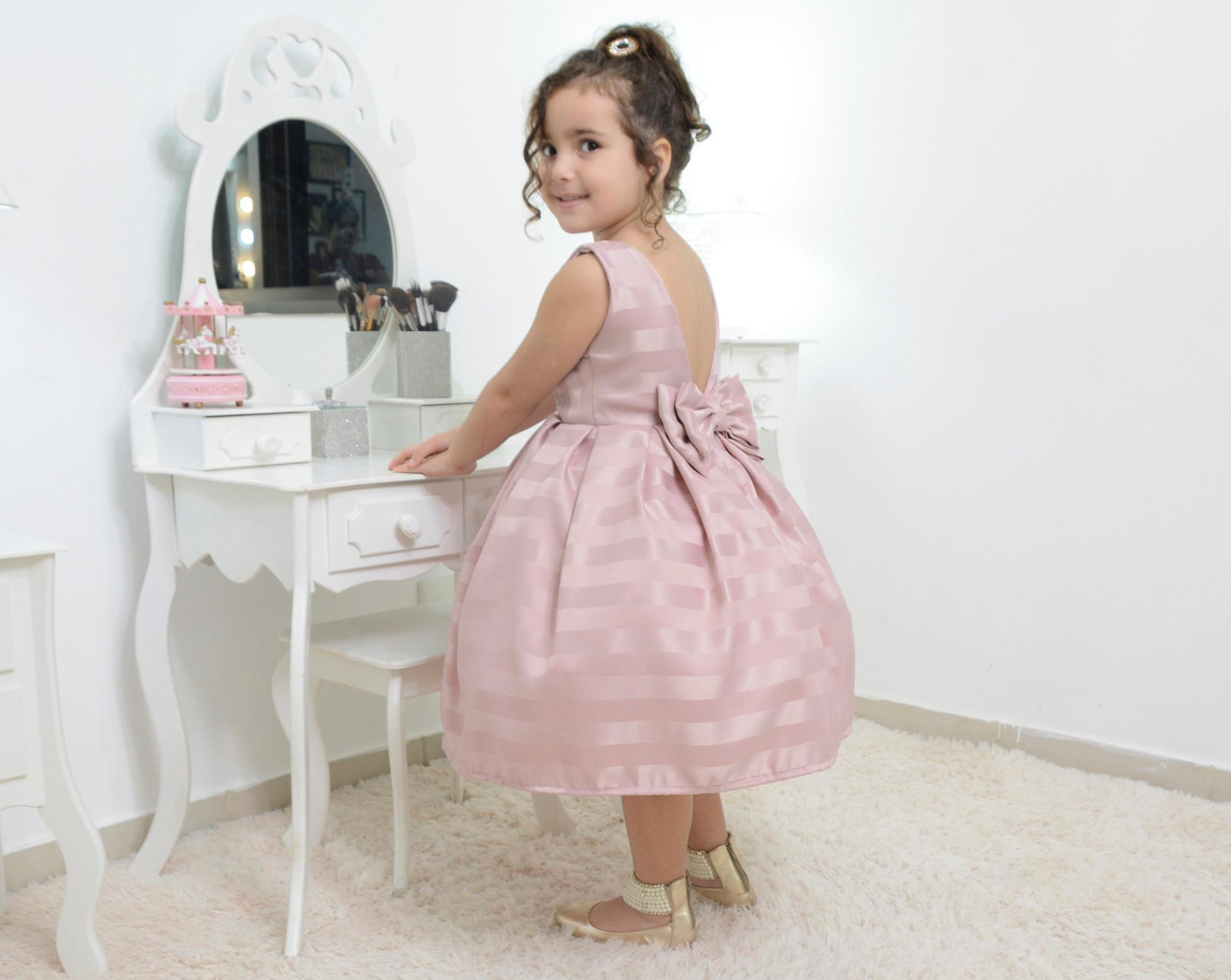 b577c8539 Vestido infantil festa na cor rosa seco no Elo7 | Moderna Meninas (DC72CD)