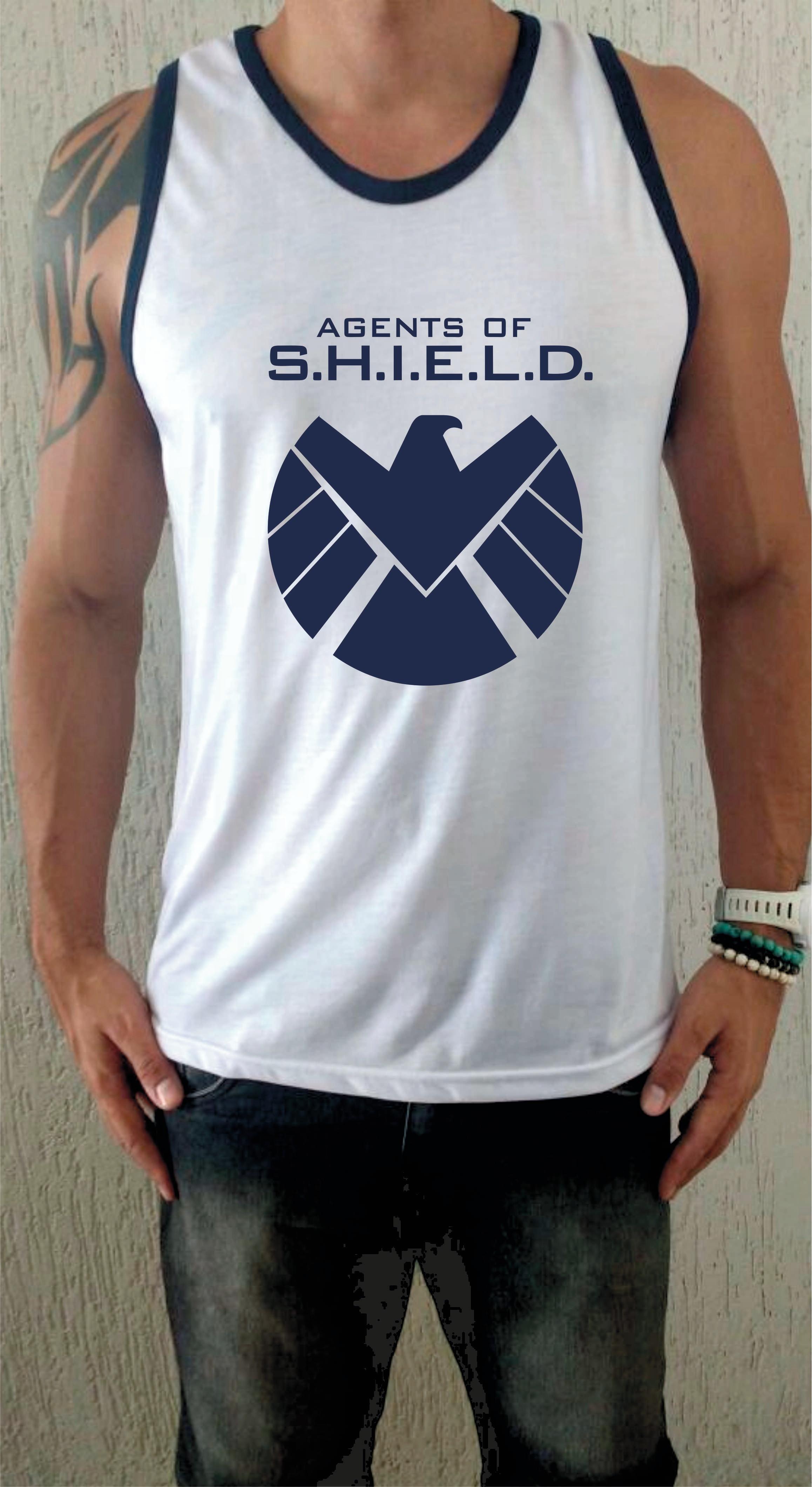 84e36c16d4 Camiseta Regata Agents Of Shield