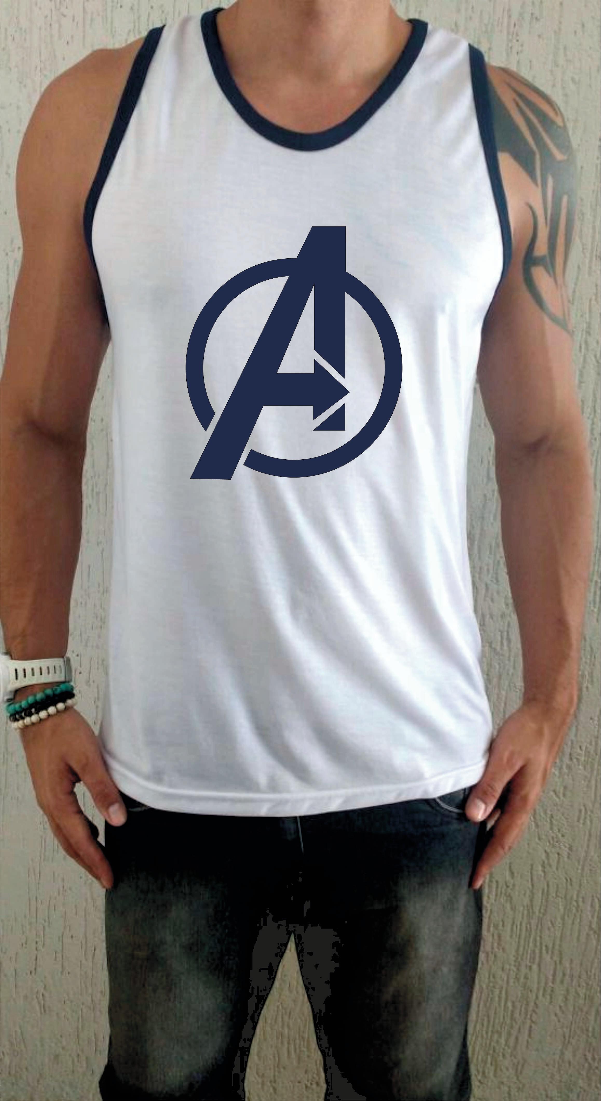 039ca6321e Camiseta Regata os Vingadores Avengers