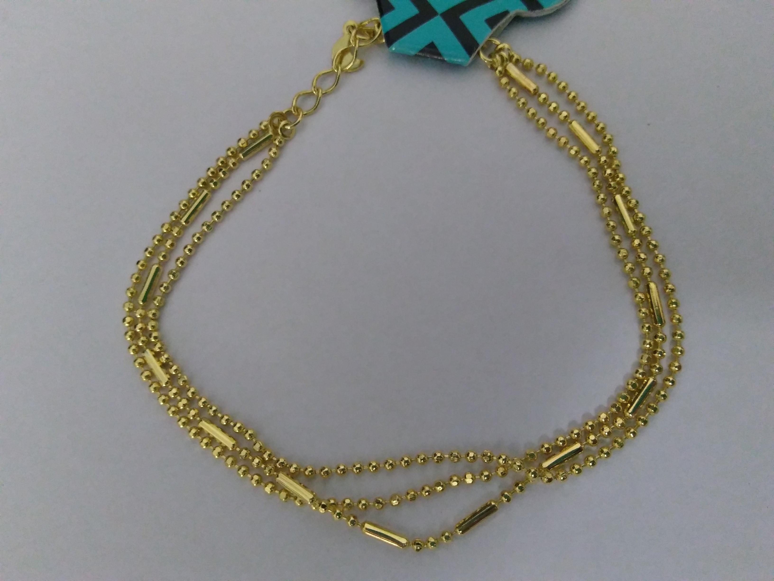 149d8fe9bce Bracelete 3 Fios com Bolinhas
