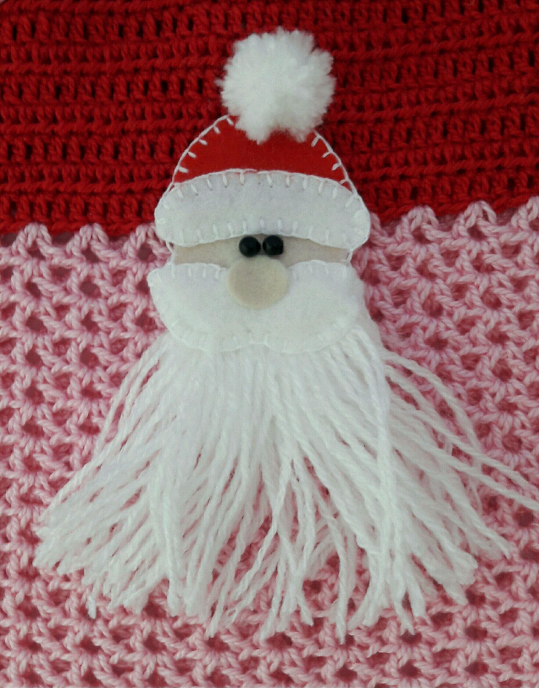 Jardineira crochê Papai Noel no Elo7  4aa28217a19