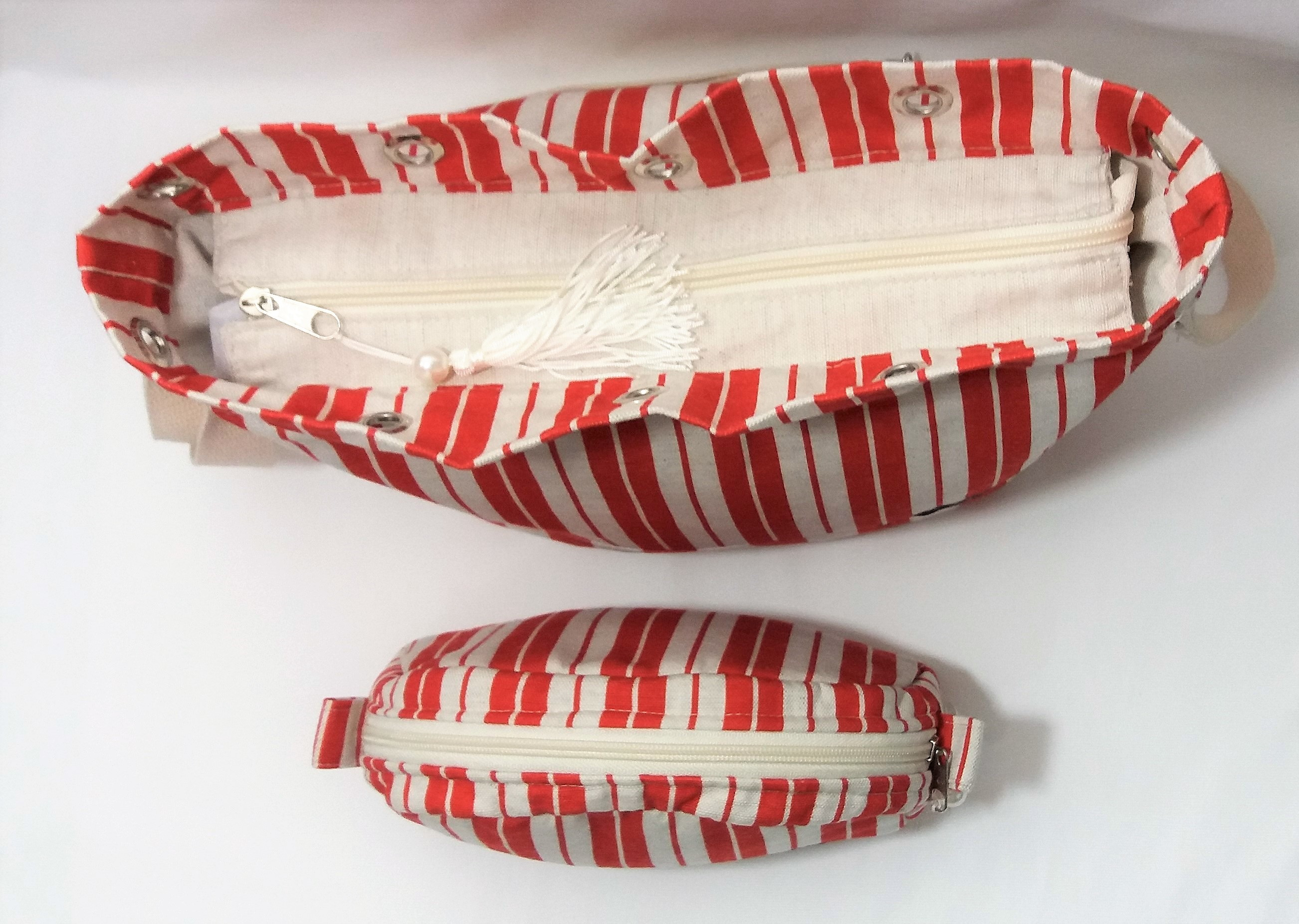 3754428a4 Bolsa Feminina Vermelha Casual em Tecido Linho no Elo7 | Presence Clothing  (DCE5E1)