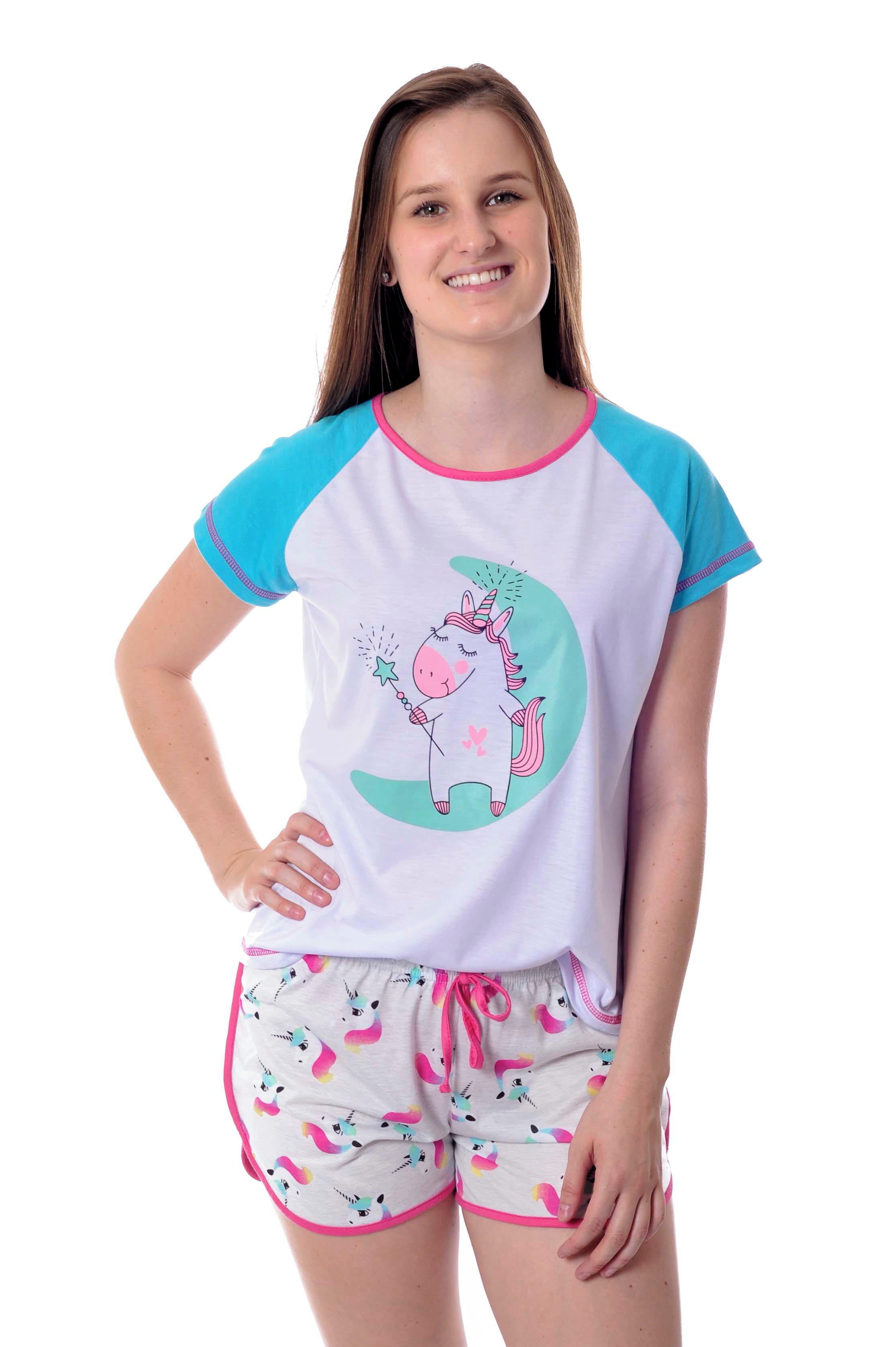 ccf2506354d255 Pijama de Unicornio Feminino Adulto Short Doll | Elo7
