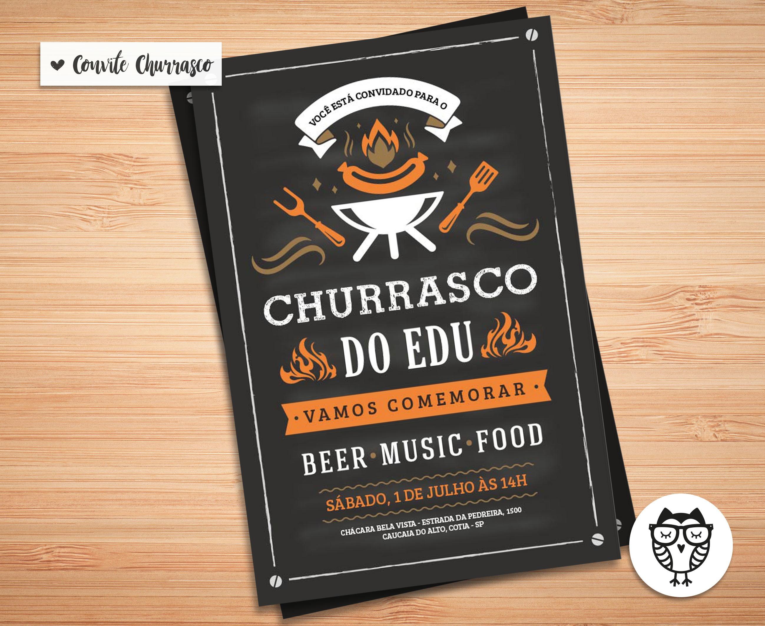 Convites Para Churrasco Elo7