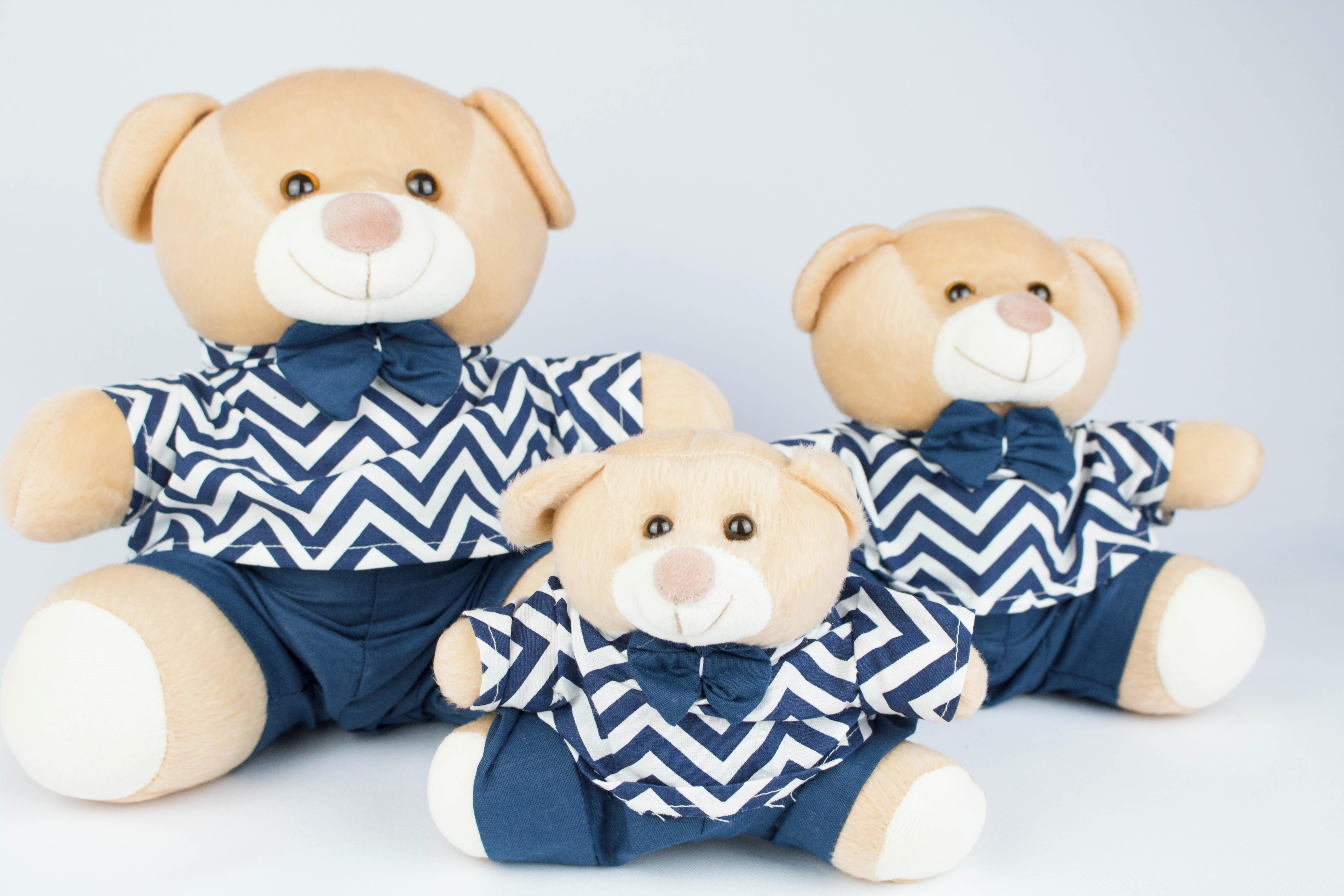 Trio de Urso de Pelucia Principe Festa  49869854f1c86