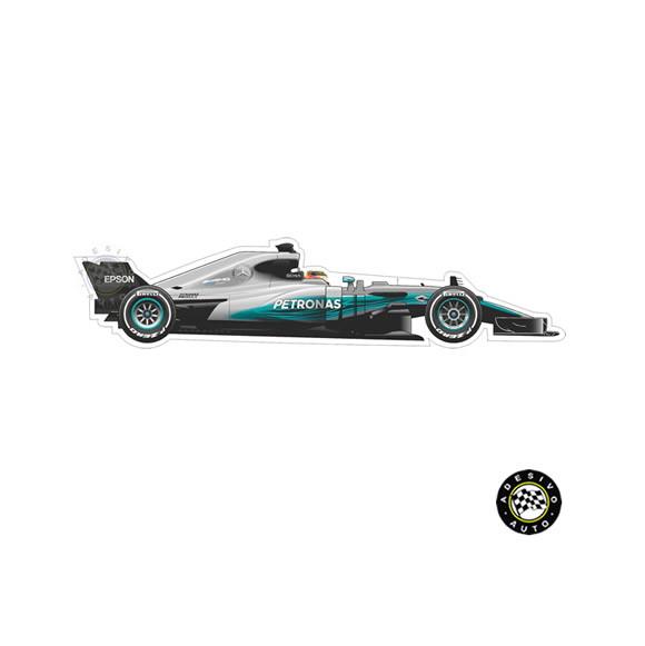 Adesivo Mercedes F1 W08 Lewis Hamilton Formula 1 Team Carros  f43a10d39c618