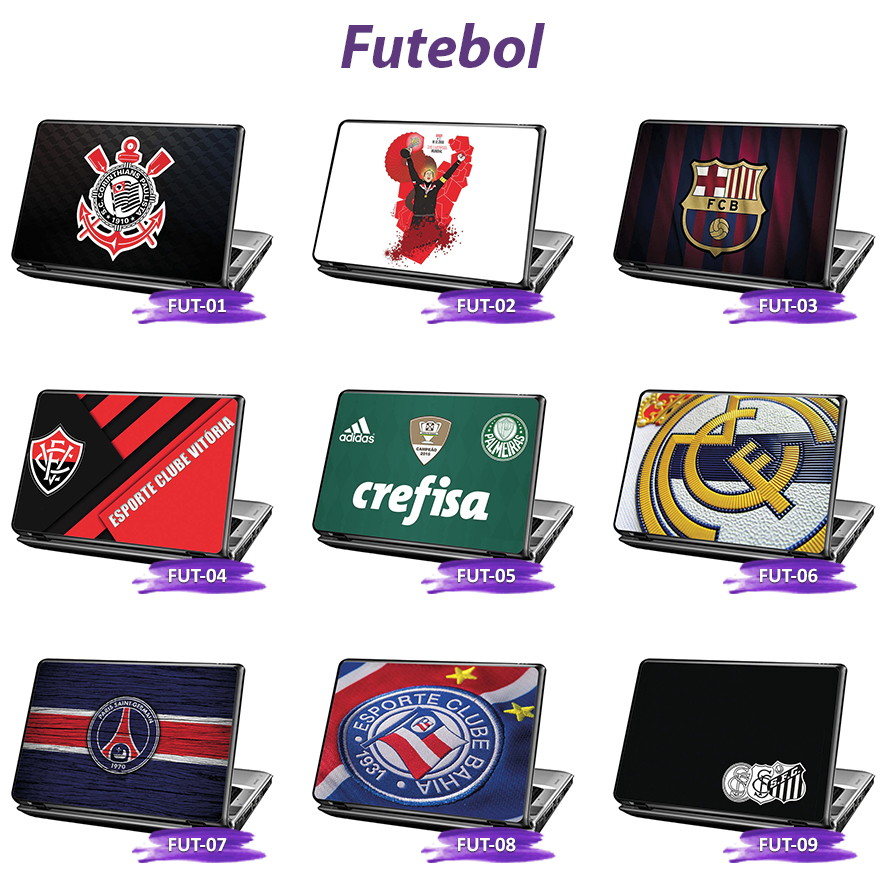 Skin Notebook Times de Futebol  32e6f3b0b4480