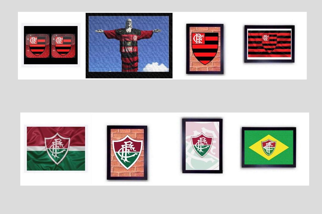 7748fbdc0a Quadro Futebol Flamengo Fluminense Placa Esporte Time