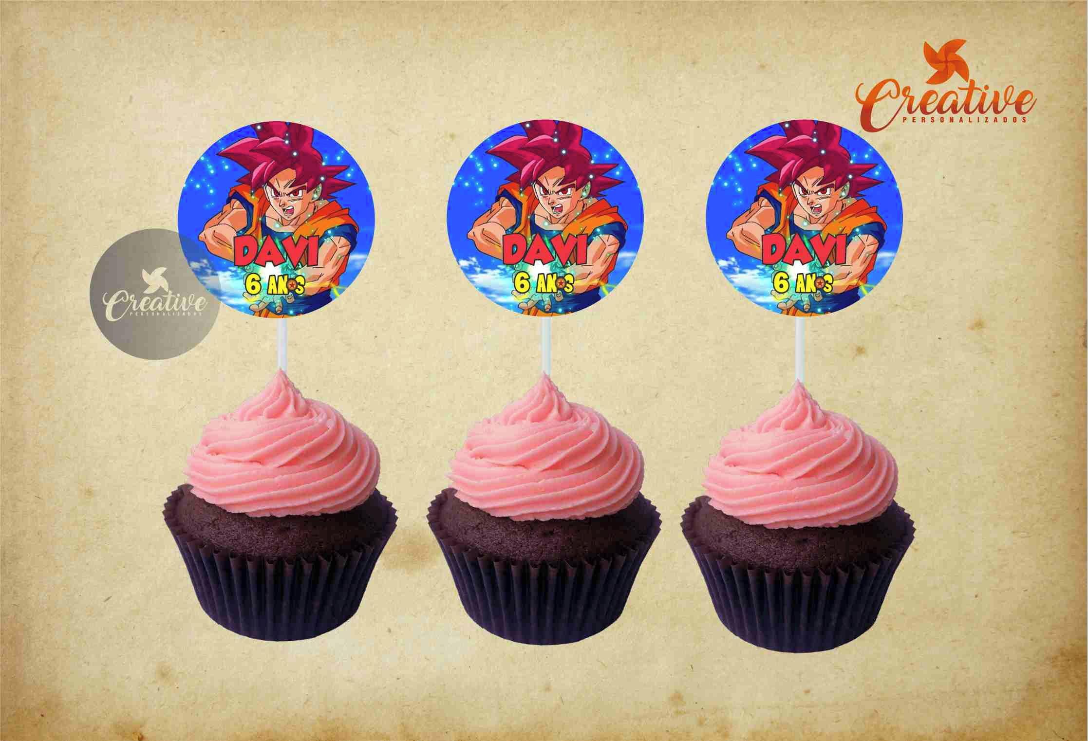 1ec6d35b29 Topper Docinho Cupcake Irmaos Neto