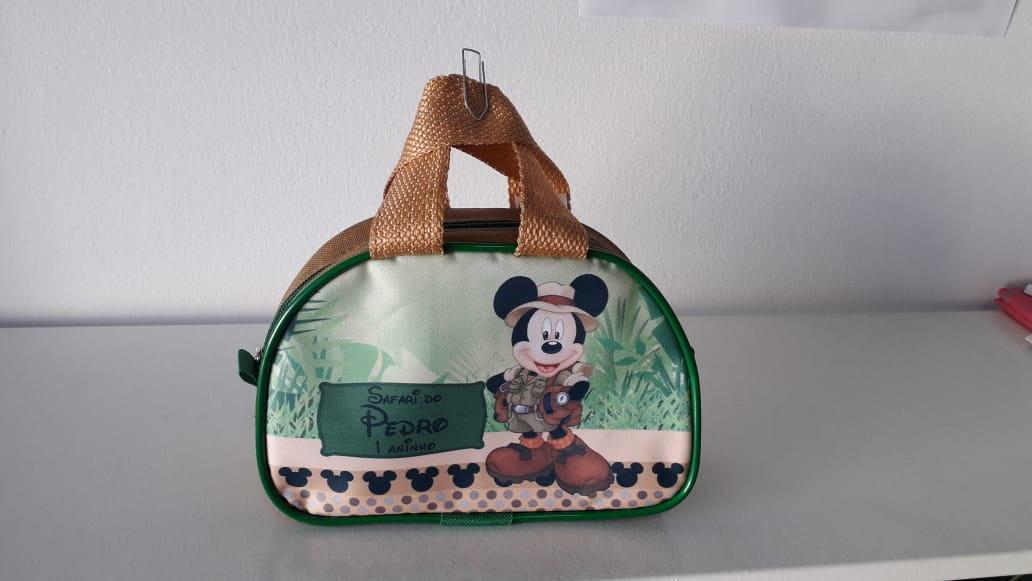 Bolsinha Meia Lua Mickey Safari  d260949874568
